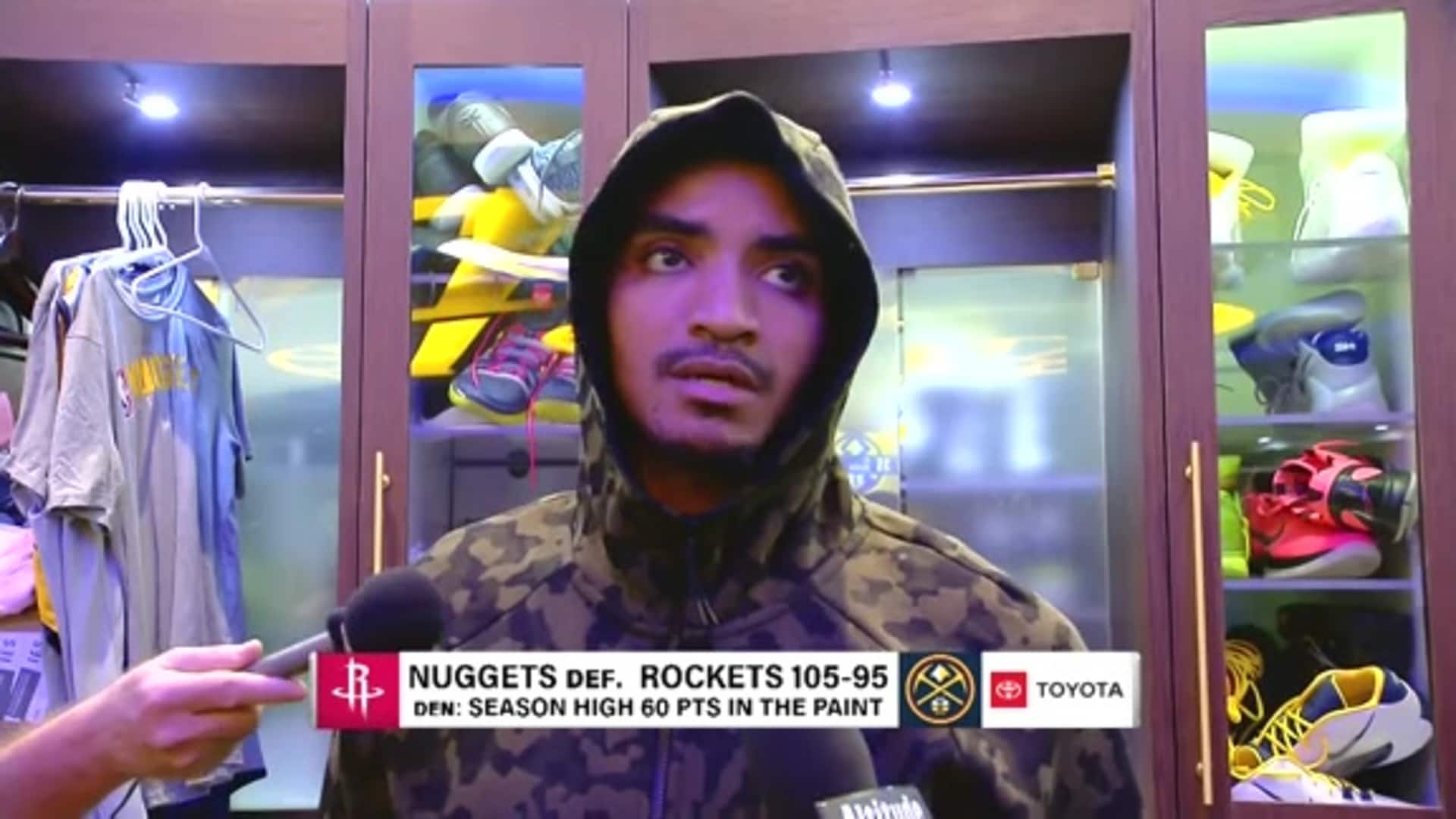 Nuggets vs. Rockets: Gary Harris postgame interview