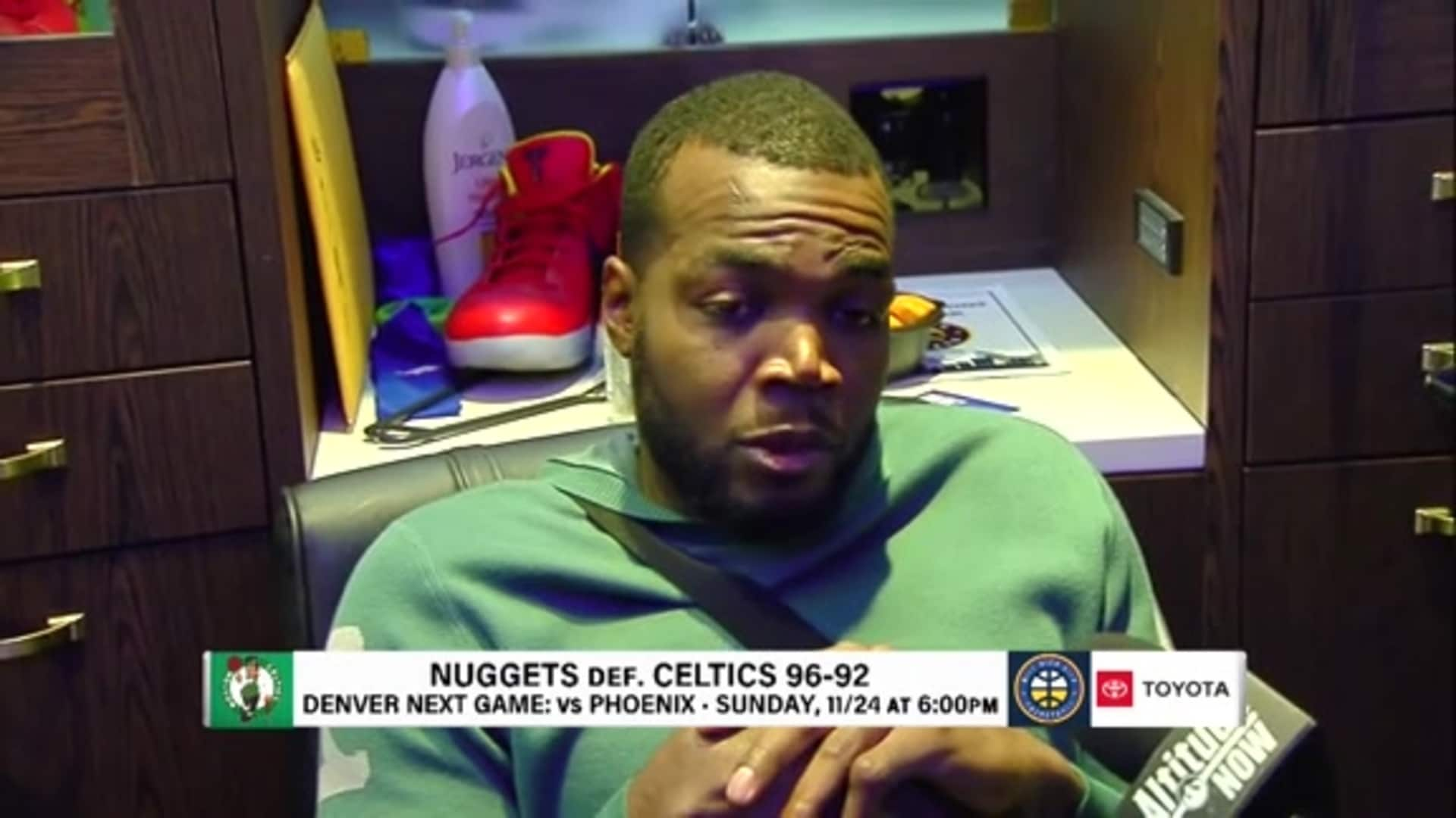 Paul Millsap explains his late game shimmy