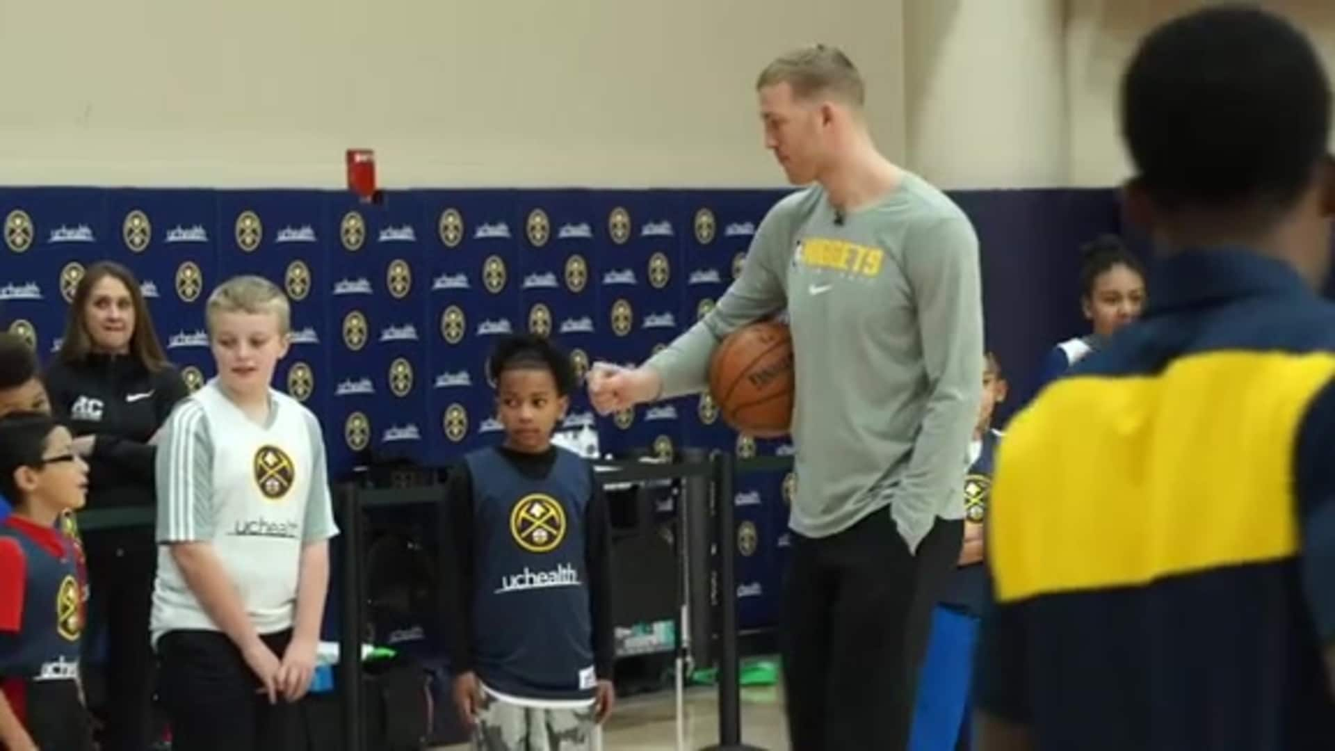 Nuggets host UCHealth Basketball 101 Clinic