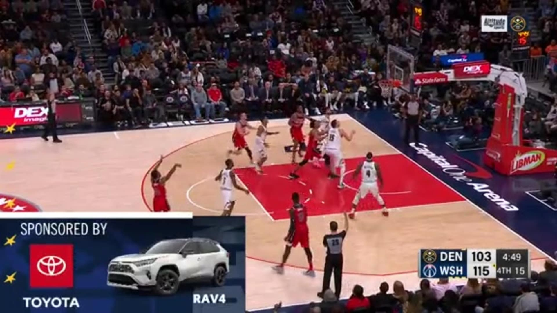 Toyota Game Recap: Nuggets lose 128-114 to Wizards
