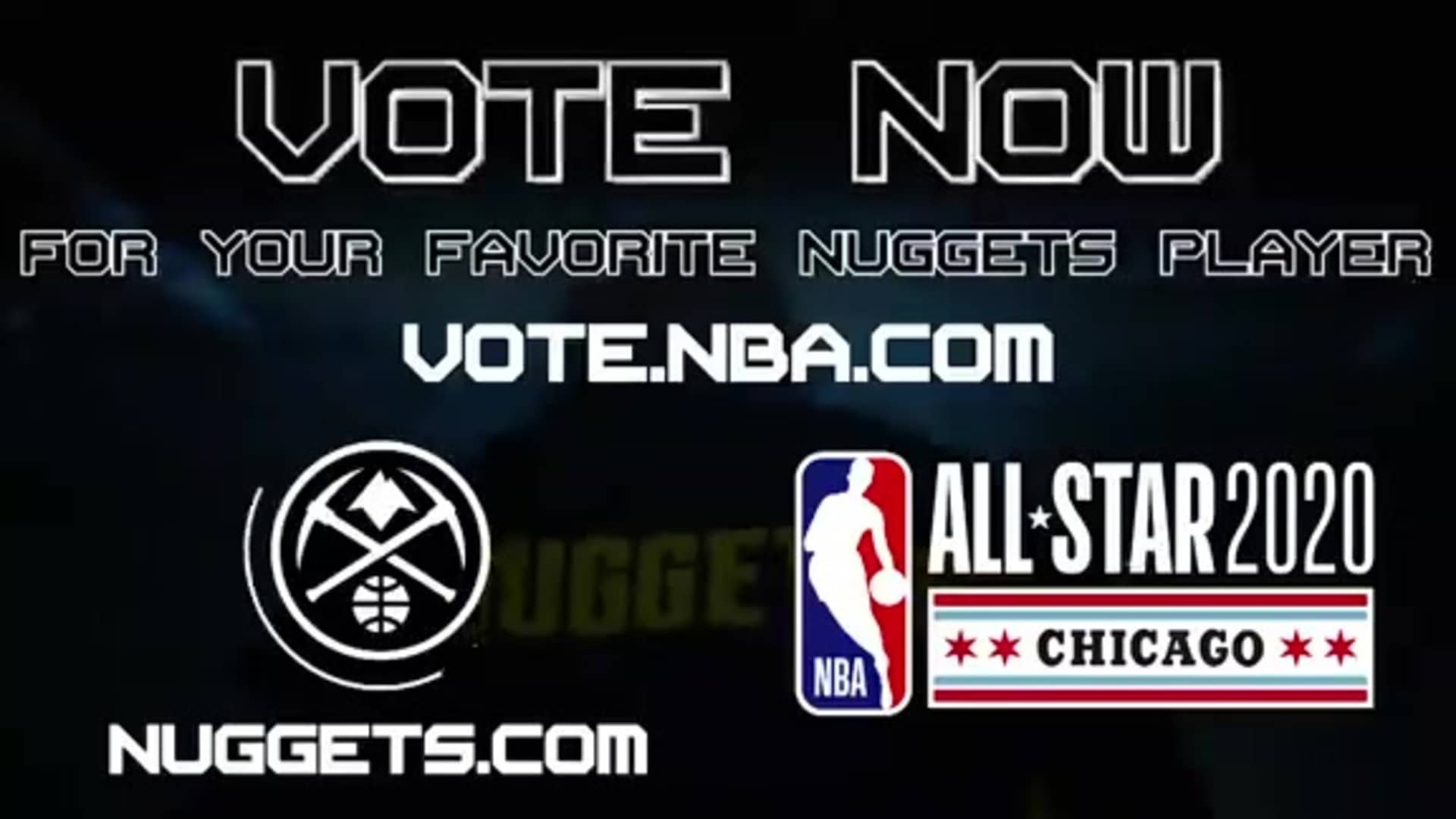 Vote your favorite Nuggets to the 2020 All-Star Game!