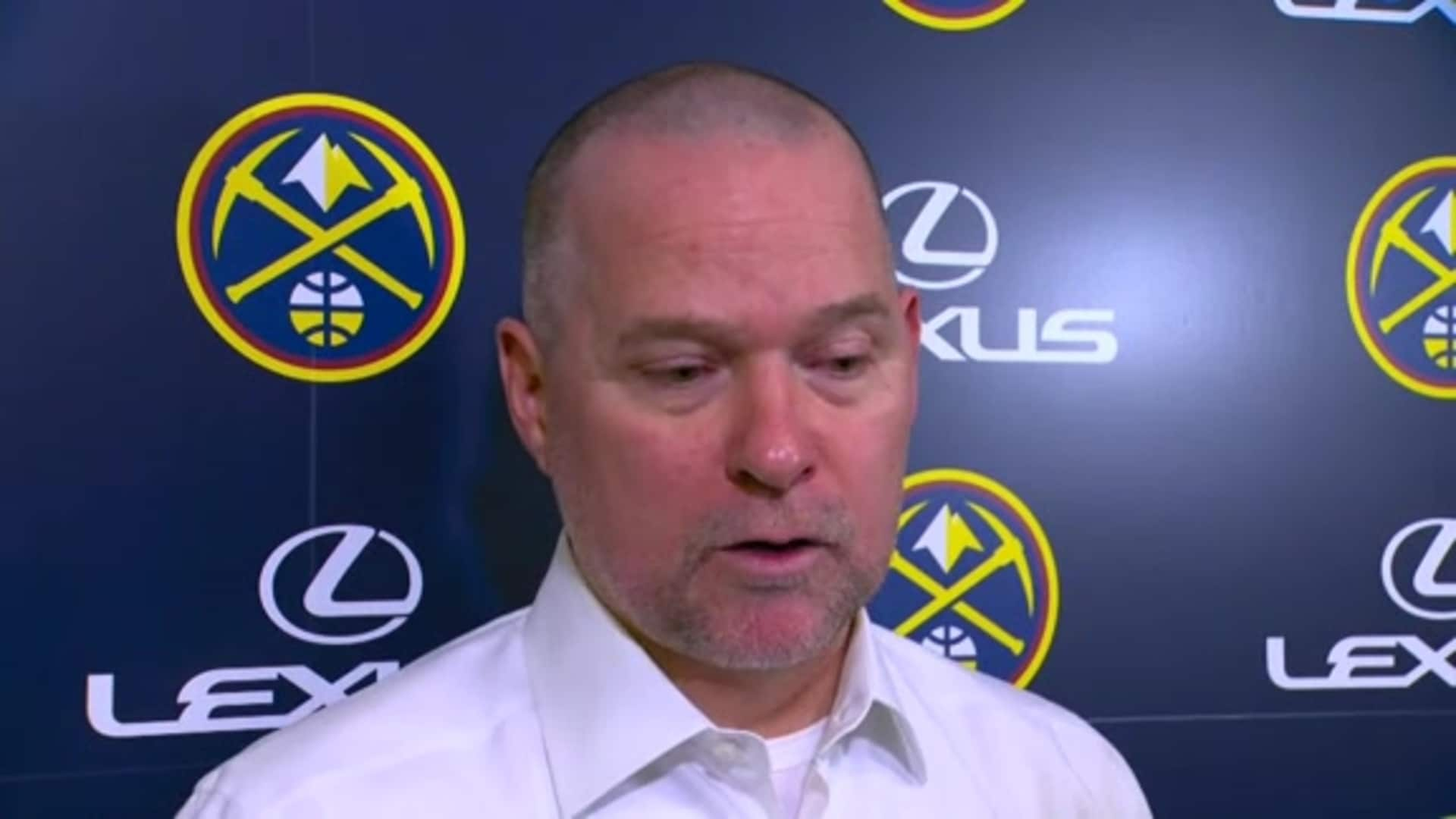 Coach Malone's postgame comments after Nuggets loss to Lakers