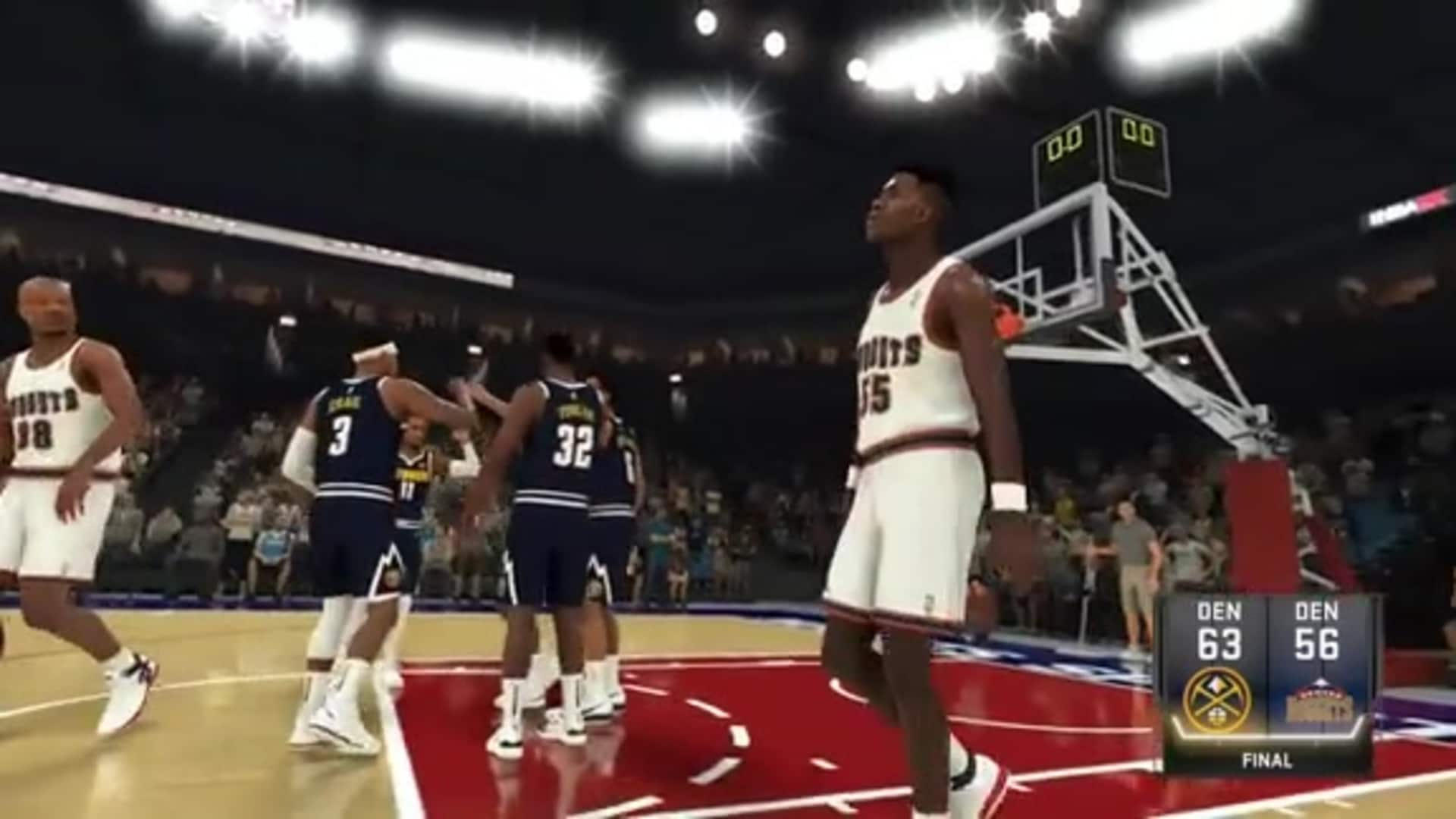 Toyota NBA 2K Game Recap: '19-20 Nuggets vs. 1993-94 Nuggets