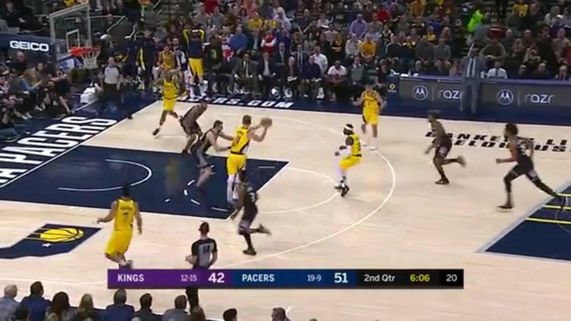 Sabonis with the Dish