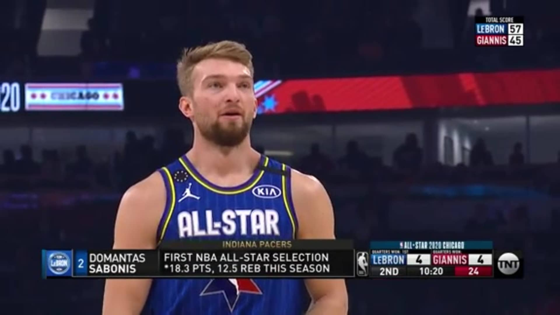Sabonis Gets On the Board