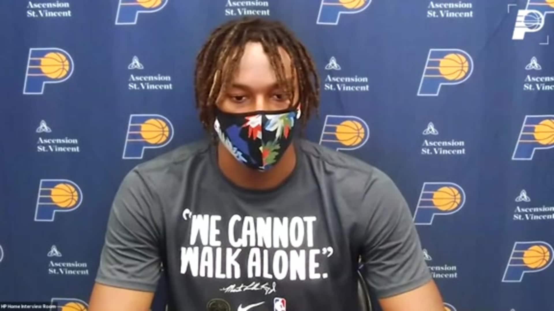 Postgame: Pacers Locker Room - July 28, 2020