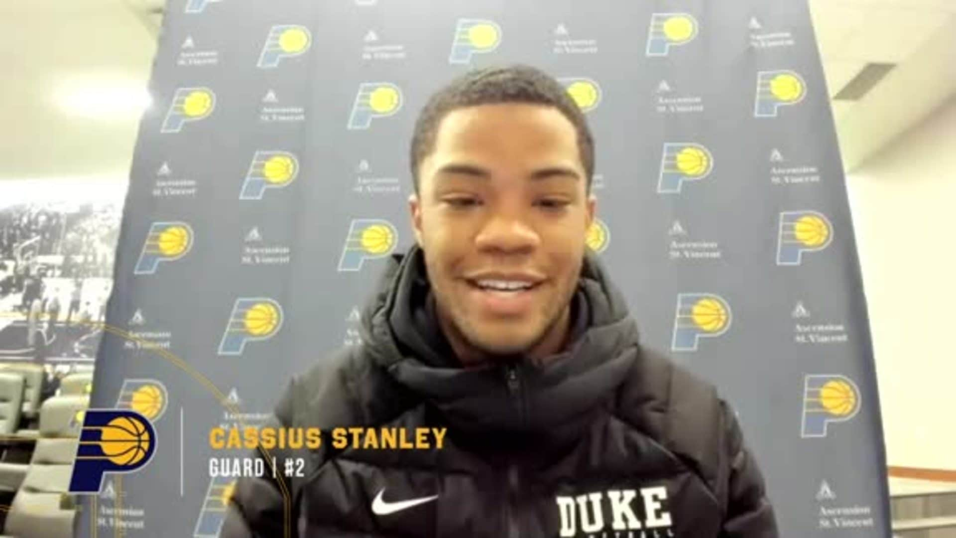 Cassius Stanley on First Impressions of Indy, Learning from Veterans
