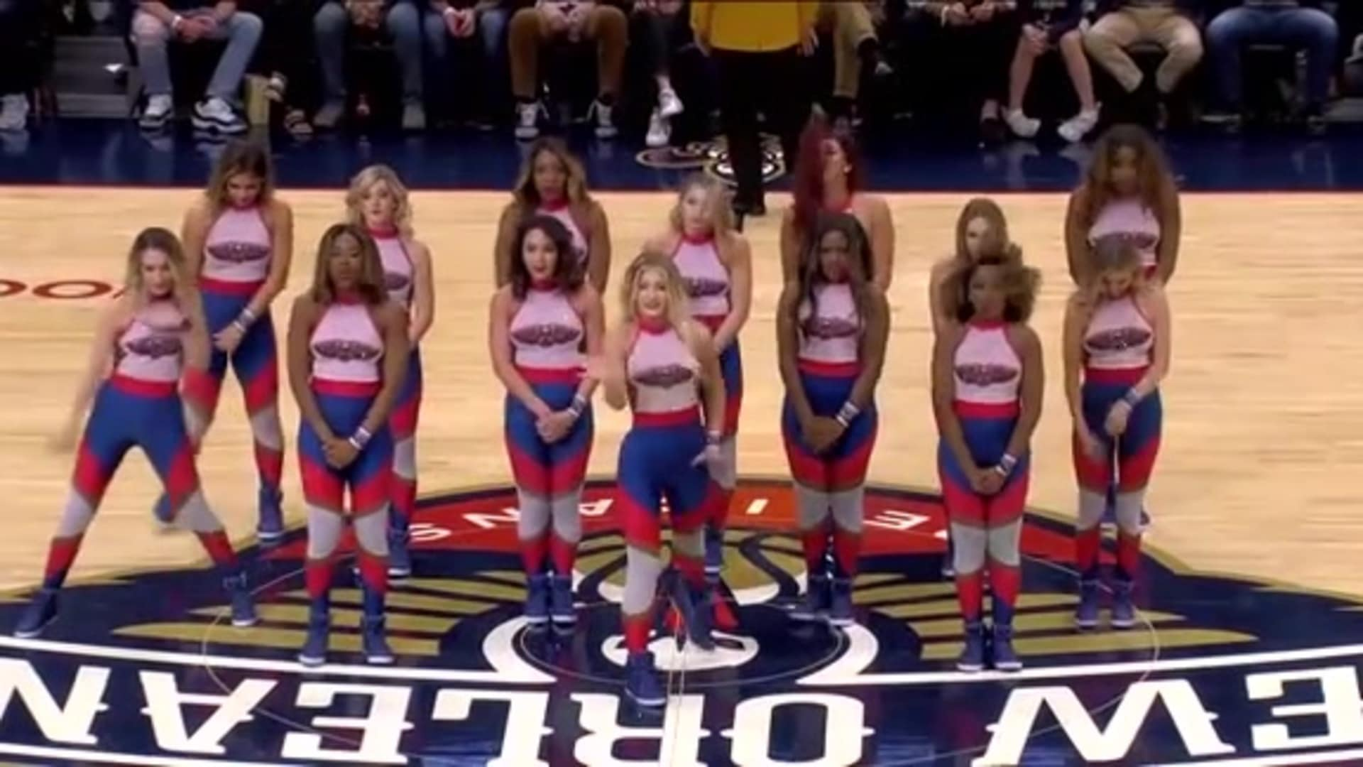 Entertainment: Pelicans Dance Team 4th quarter performance - October 28 vs. Golden State Warriors