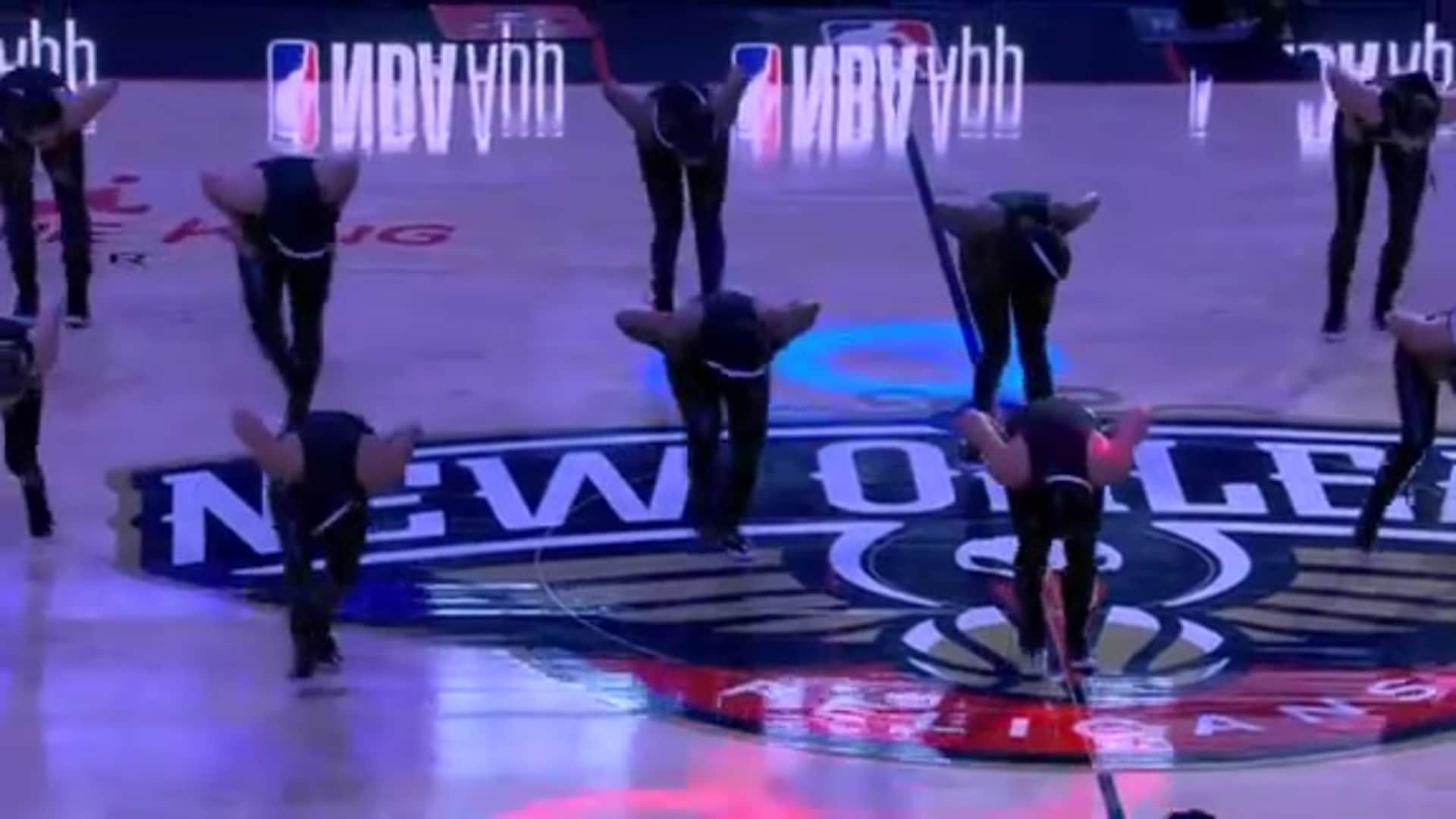 Entertainment: Pelicans Dance Team 2nd quarter performance - October 31 vs. Denver Nuggets