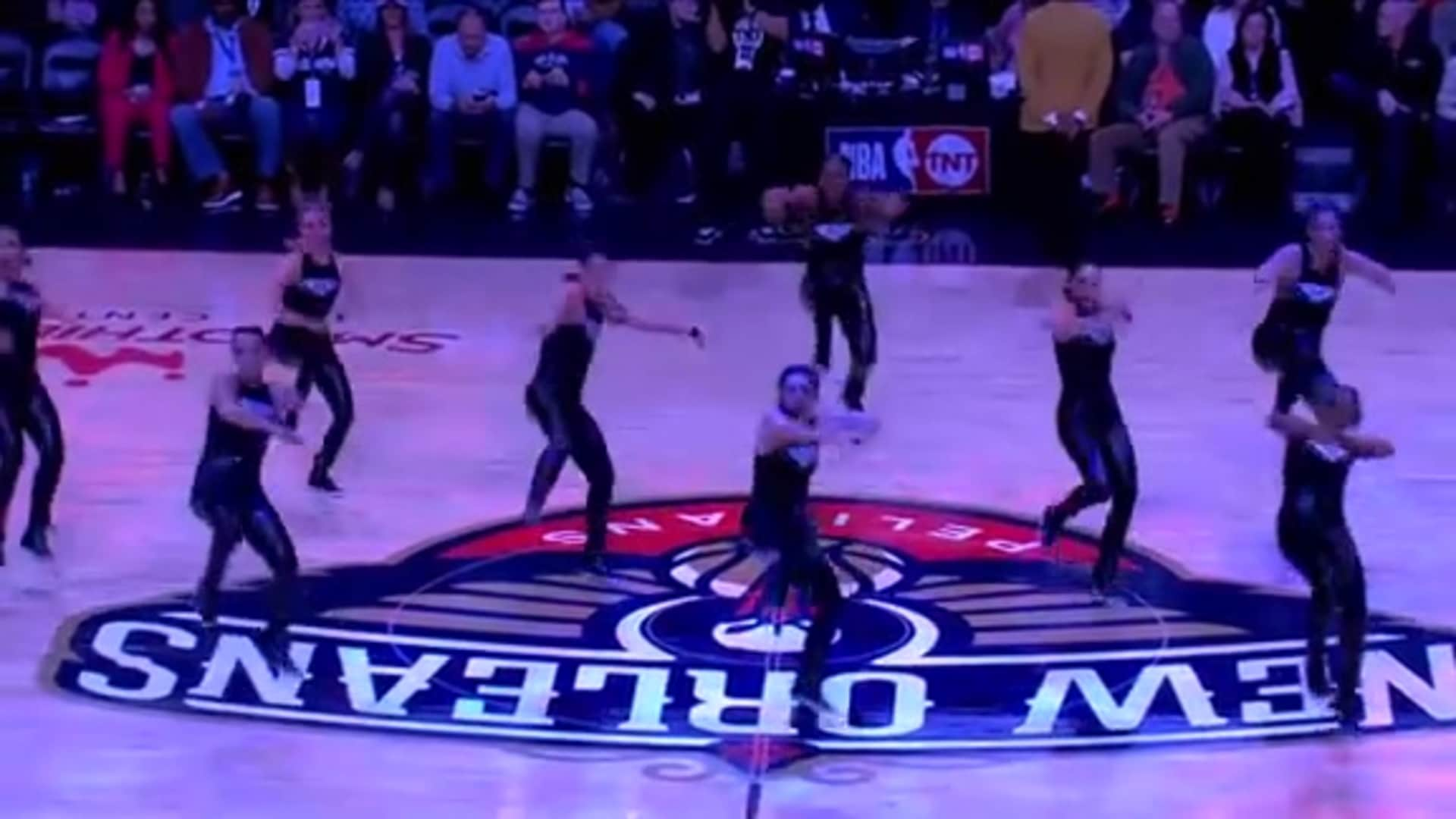 Entertainment: Pelicans Dance Team 3rd quarter performance - October 31 vs. Denver Nuggets