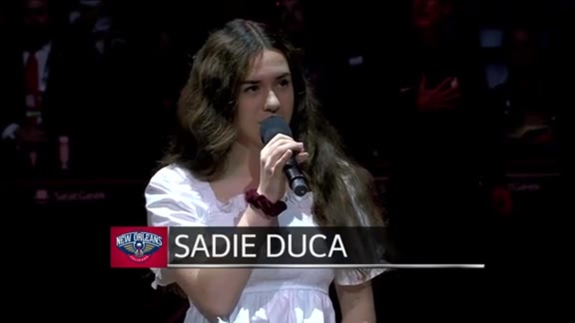 Entertainment: National Anthem performance by Sadie Duca – November 17 vs. Golden State Warriors