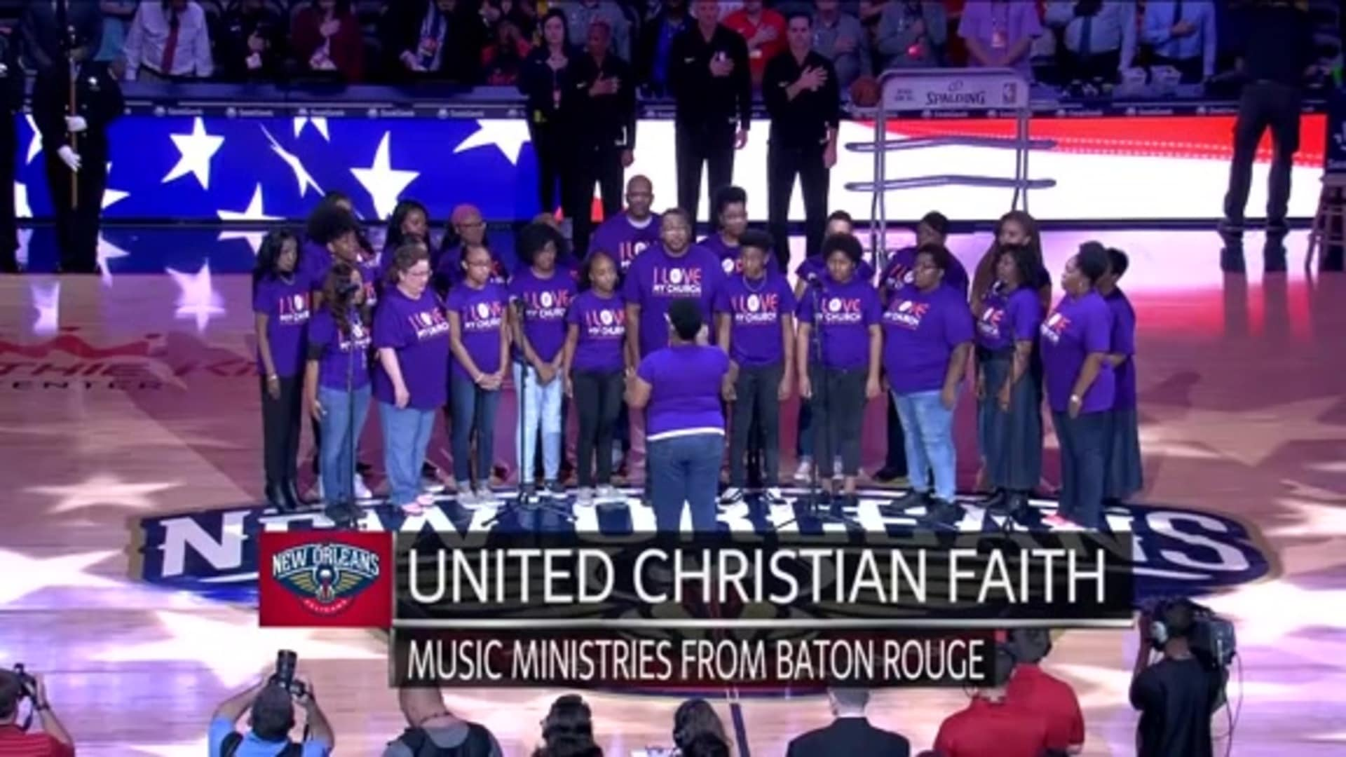 Entertainment: National Anthem performance by United Christian Faith Music Ministries – December 28 vs. Indiana Pacers