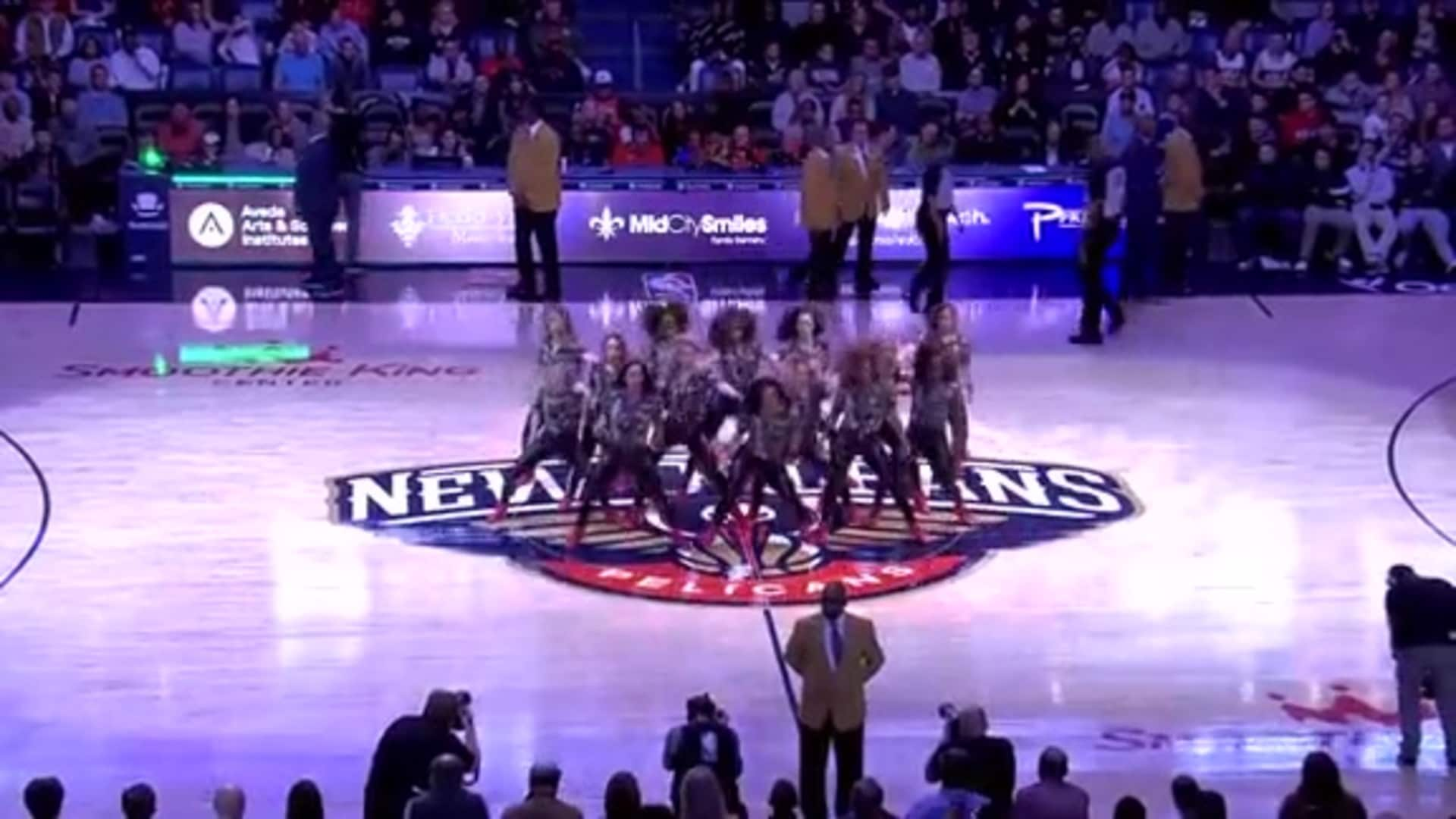 Entertainment: Pelicans Dance Team 3rd quarter performance - January 8 vs. Chicago Bulls