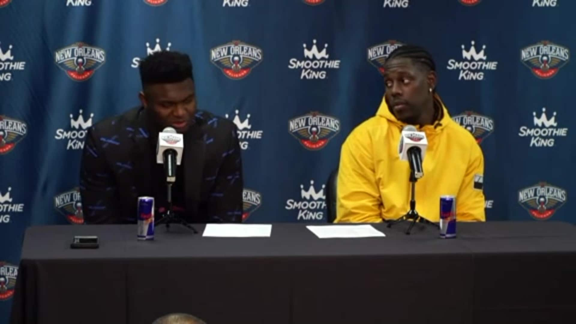 Zion Williamson and Jrue Holiday Postgame Interview | Pelicans vs. Spurs