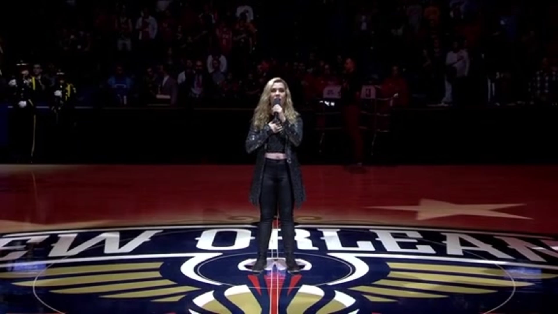 Entertainment: National Anthem performance by Jenna Hunts – January 18 vs. L.A. Clippers