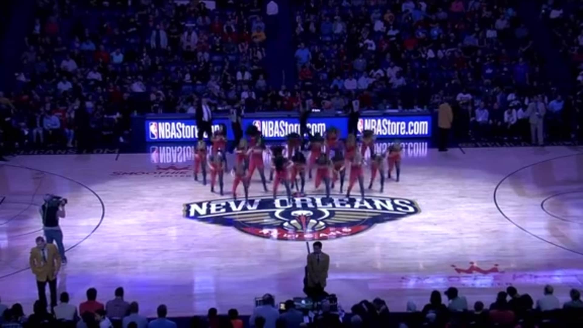 Entertainment: Pelicans Dance Team 3rd quarter performance - January 18 vs. L.A. Clippers