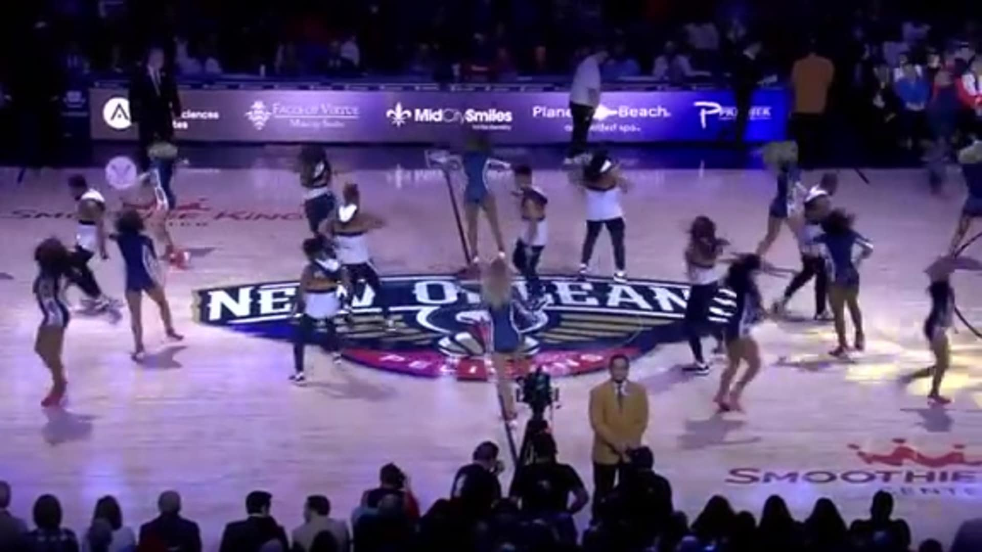 Entertainment: Pelicans Dance Team 3rd quarter performance - January 24 vs. Denver Nuggets