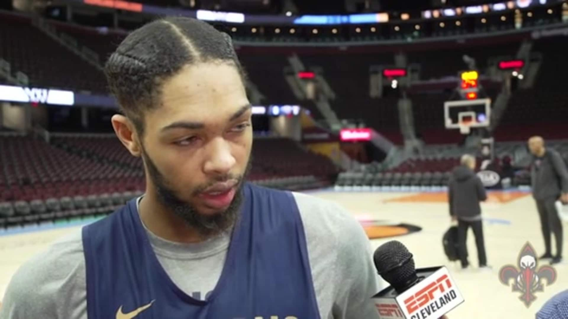 Pelicans at Cavaliers Shootaround: Brandon Ingram 1-28-20