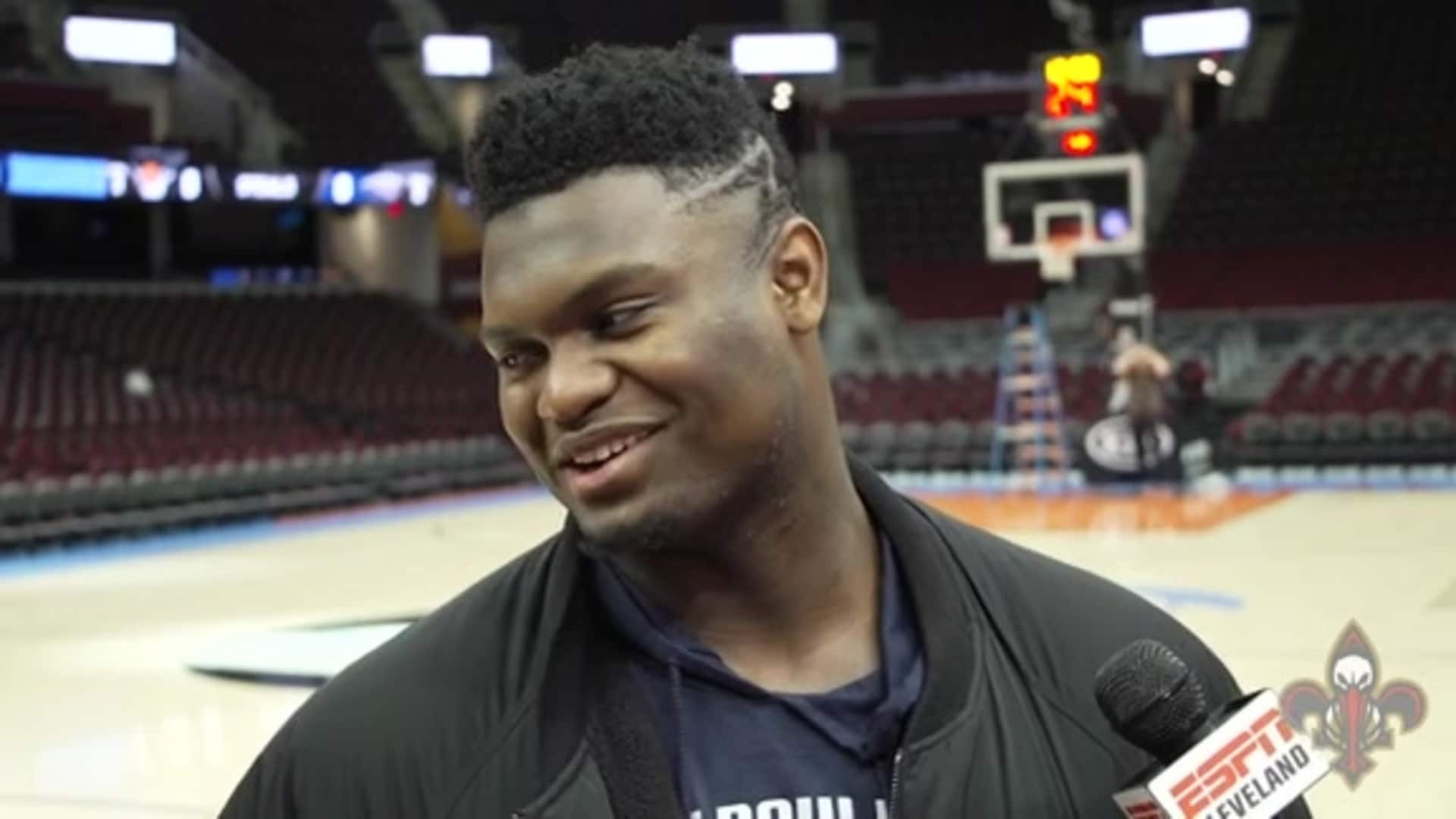 Pelicans at Cavaliers Shootaround: Zion Williamson 1-28-20