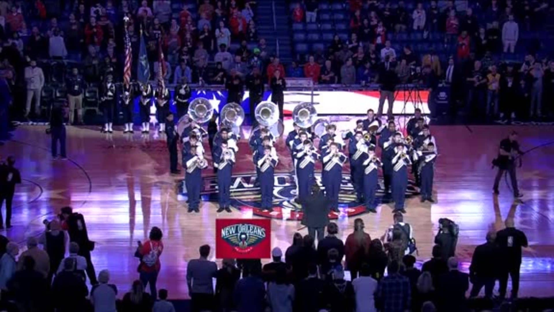 Entertainment: National Anthem performance by Holy Cross Tiger Band – January 31 vs. Memphis Grizzlies