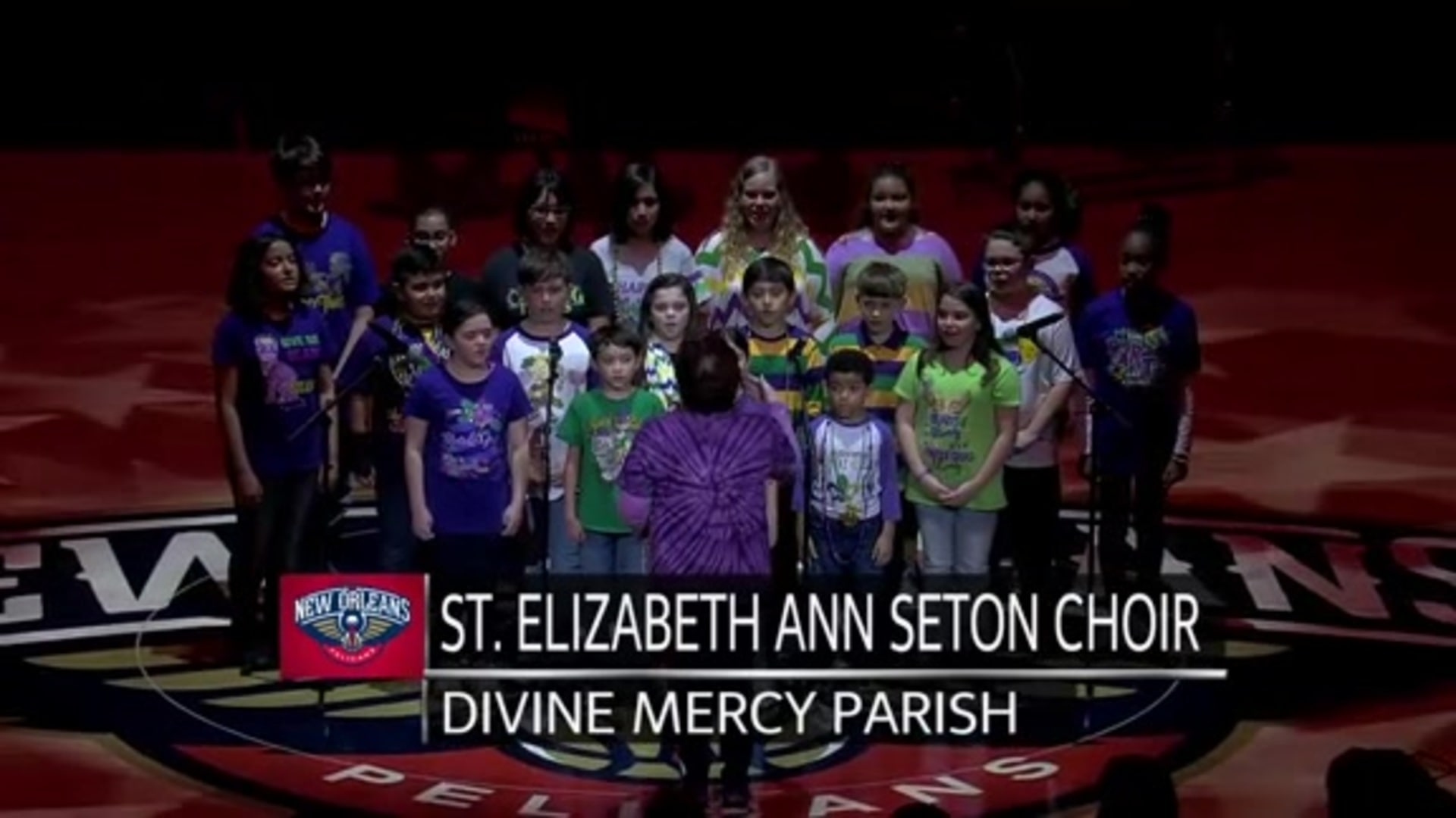 Entertainment: National Anthem performance by St. Elizabeth Ann Seton Choir – February 13 vs. Oklahoma City Thunder