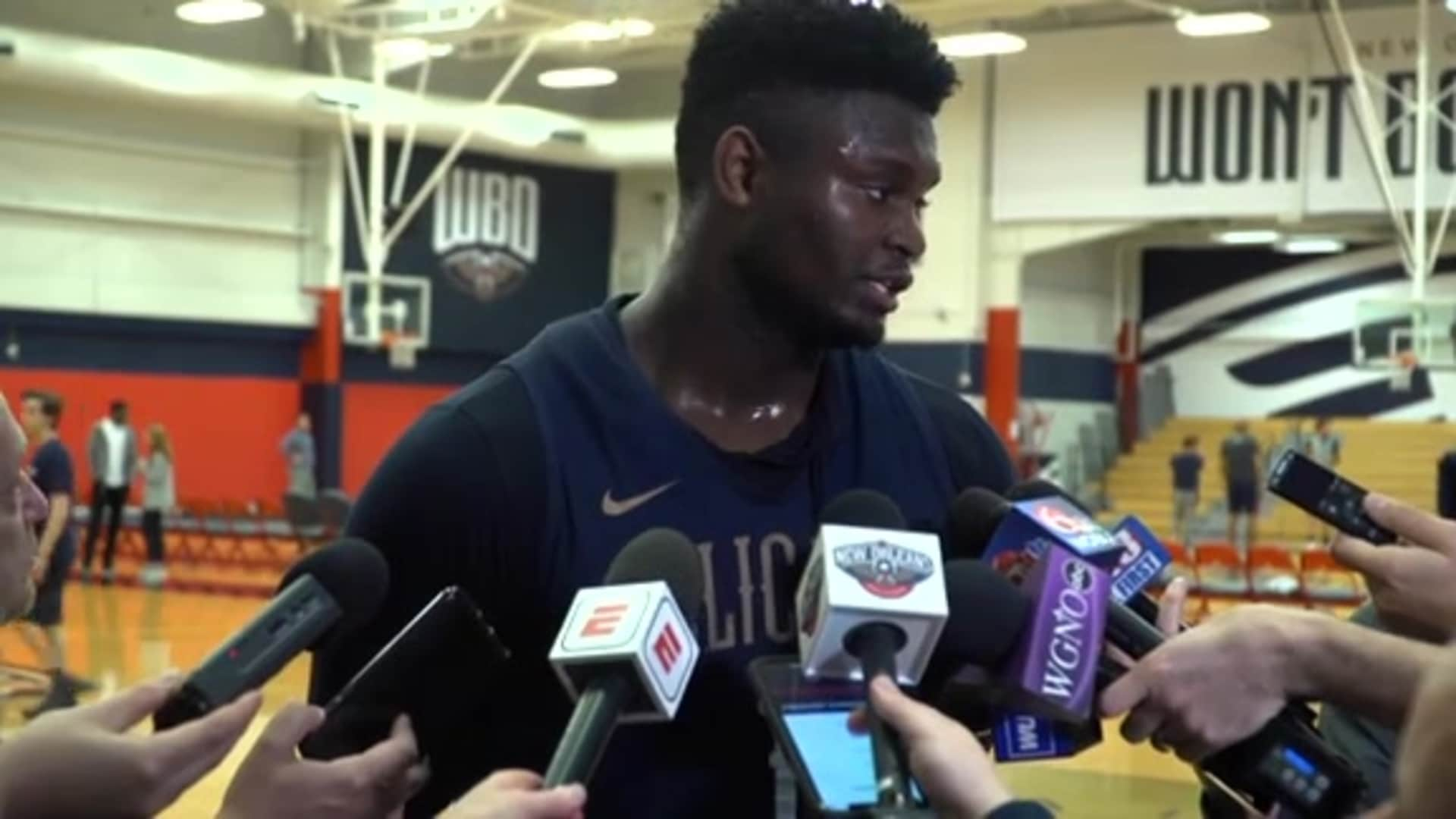 Pelicans Practice: Zion Williamson 02-20-20