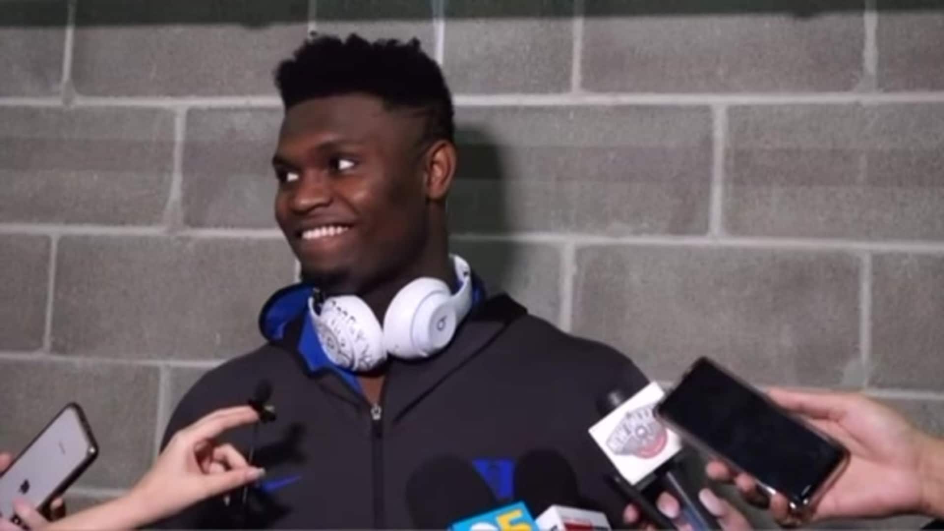 Pelicans-Warriors Postgame: Zion Williamson Interview 2-23-20