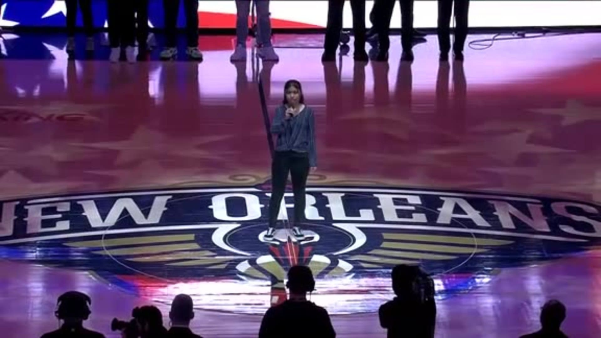 Entertainment: National Anthem performance by Cassandra Kliewer– March 1 vs. Los Angeles Lakers