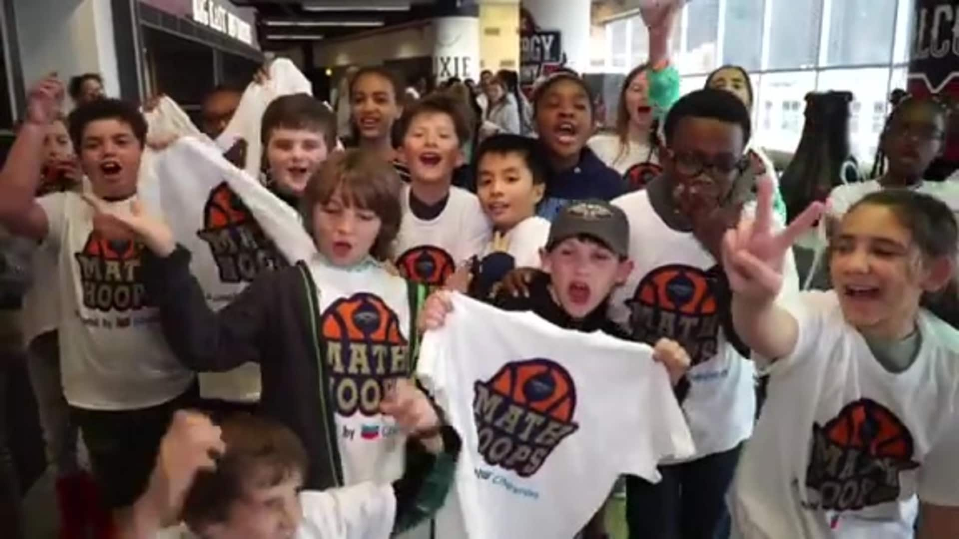 Pelicans-Chevron host Math Hoops Night at Smoothie King Center
