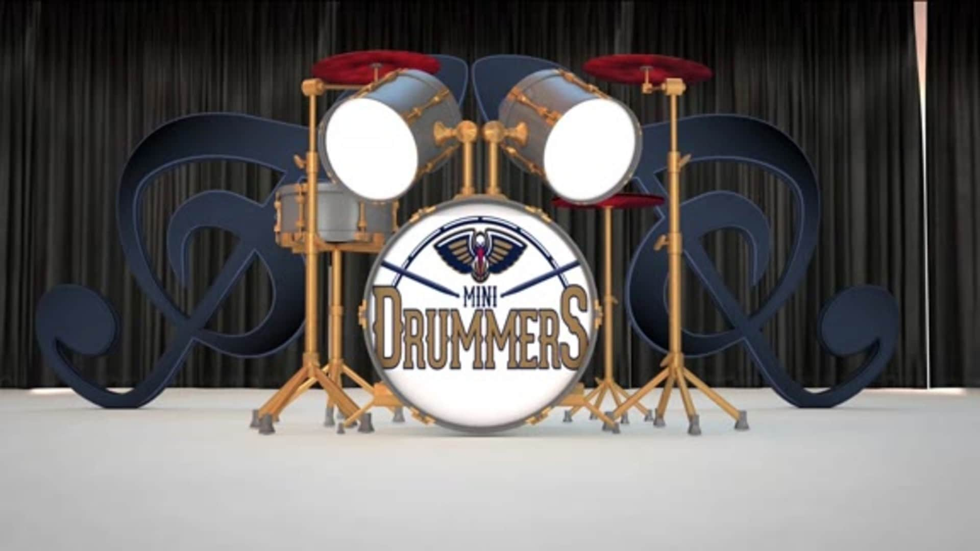 Entertainment: Pelicans Mini Drummers performance - March 6 vs. Miami Heat