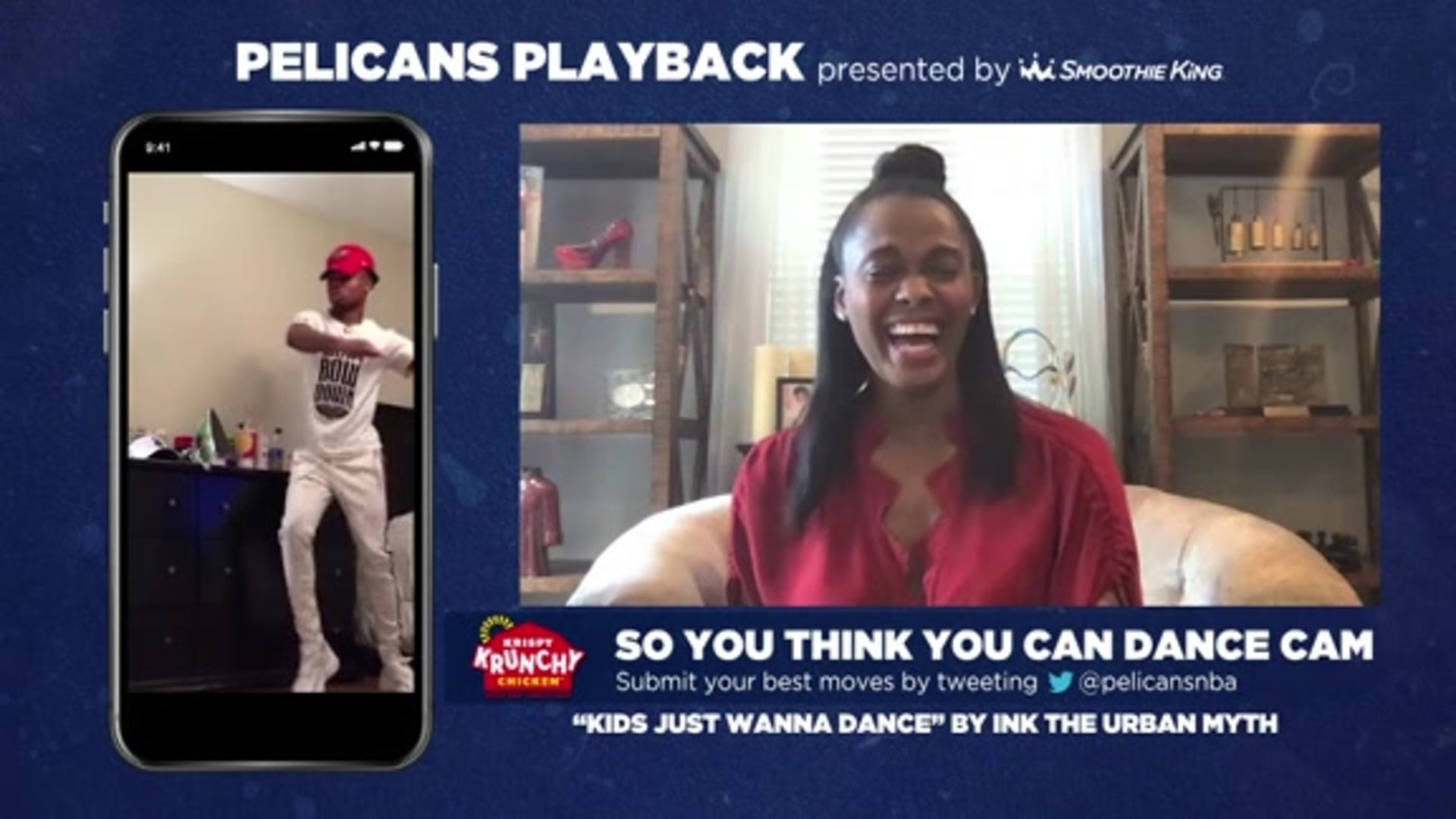 Pelicans Playback: Swin Cash judges Dance Cam