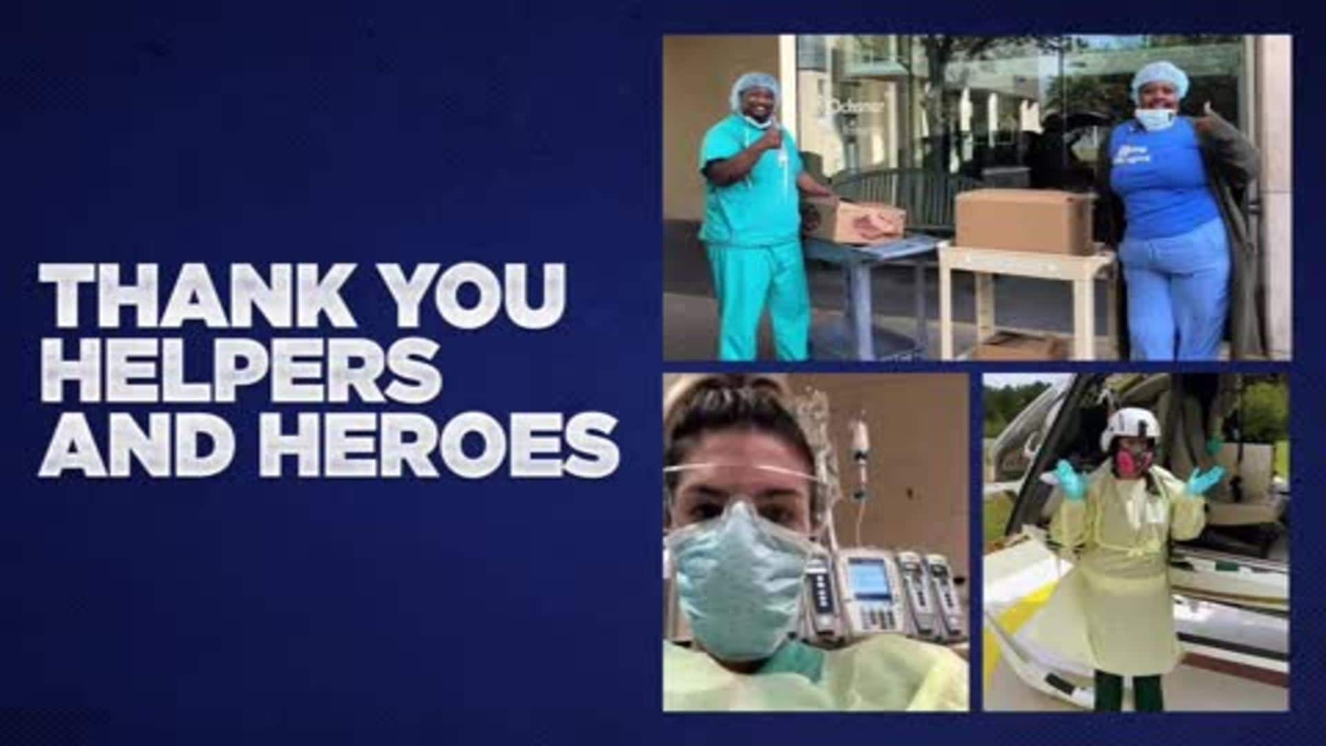 THANK YOU: Pelicans thank our local helpers and heroes