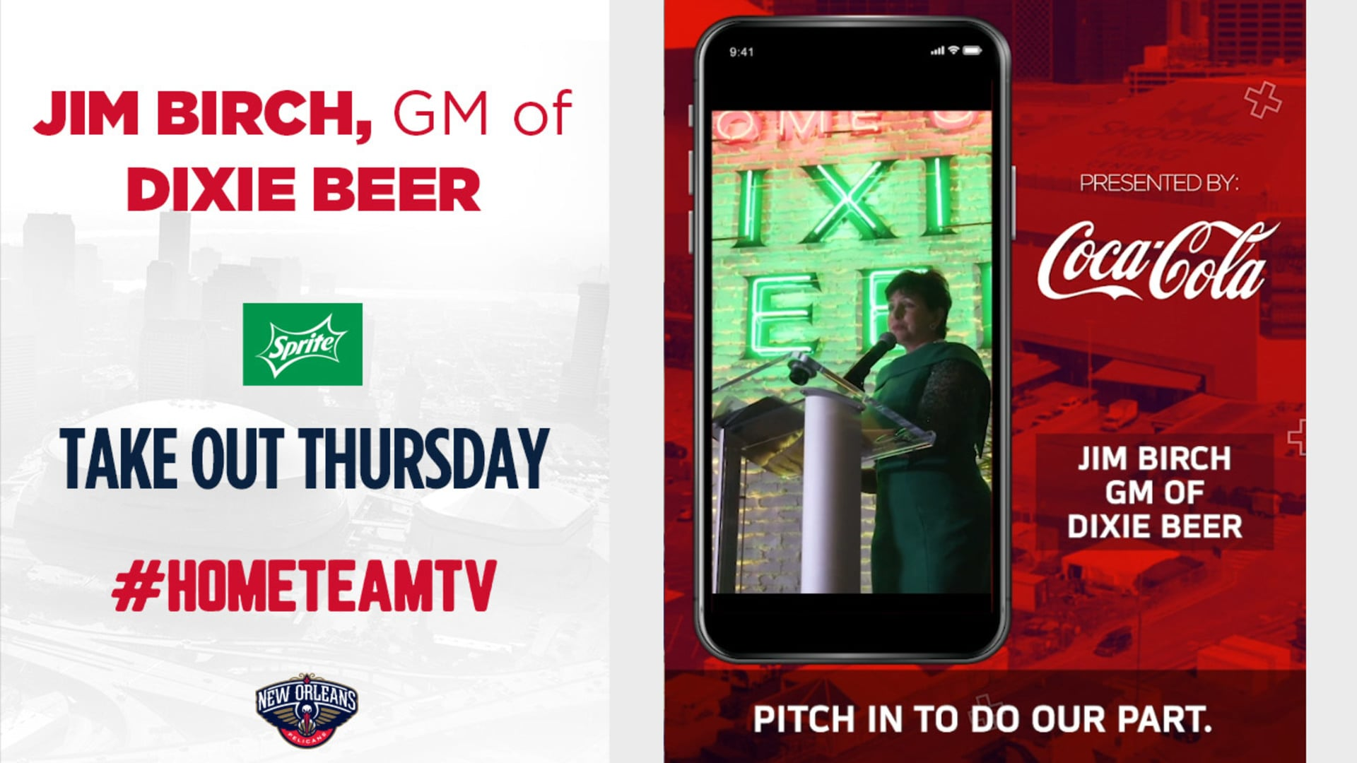 HomeTeamTV: Takeout Thursday with Dixie Beer GM Jim Birch, 4/8/20