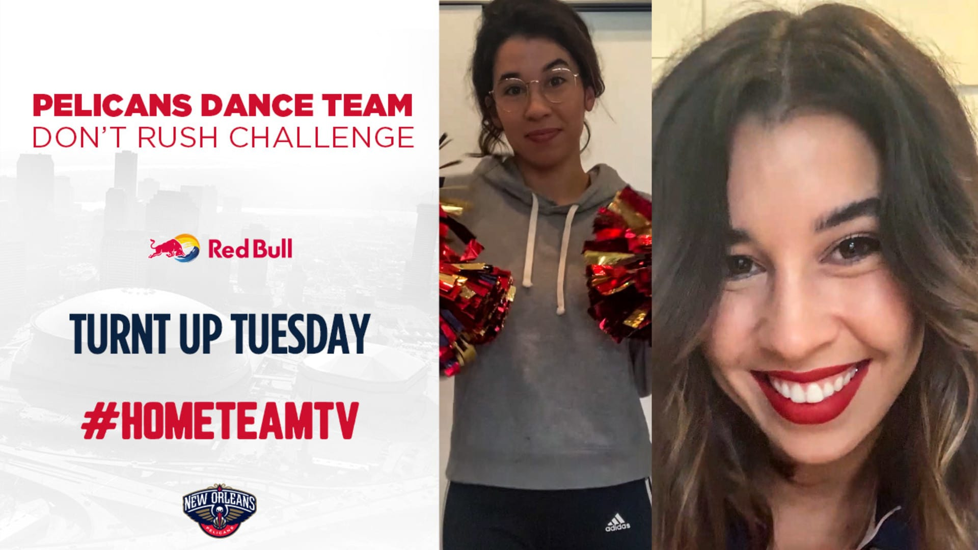 HomeTeamTV: Pelicans Dance Team does the Don't Rush Challenge on Turnt Up Tuesday 4/14/20