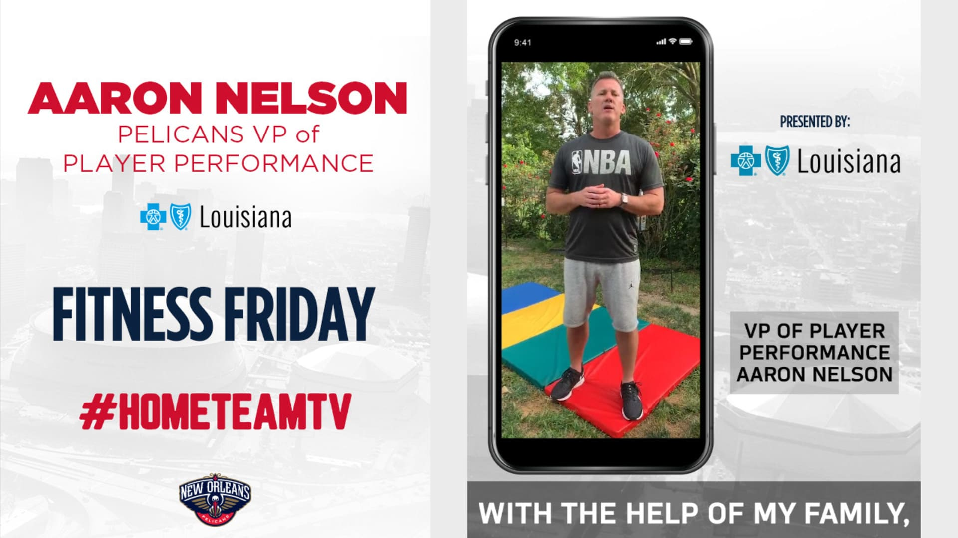 HomeTeamTV: Fitness Friday with Pelicans VP of Player Performance Aaron Nelson, 4/17/20