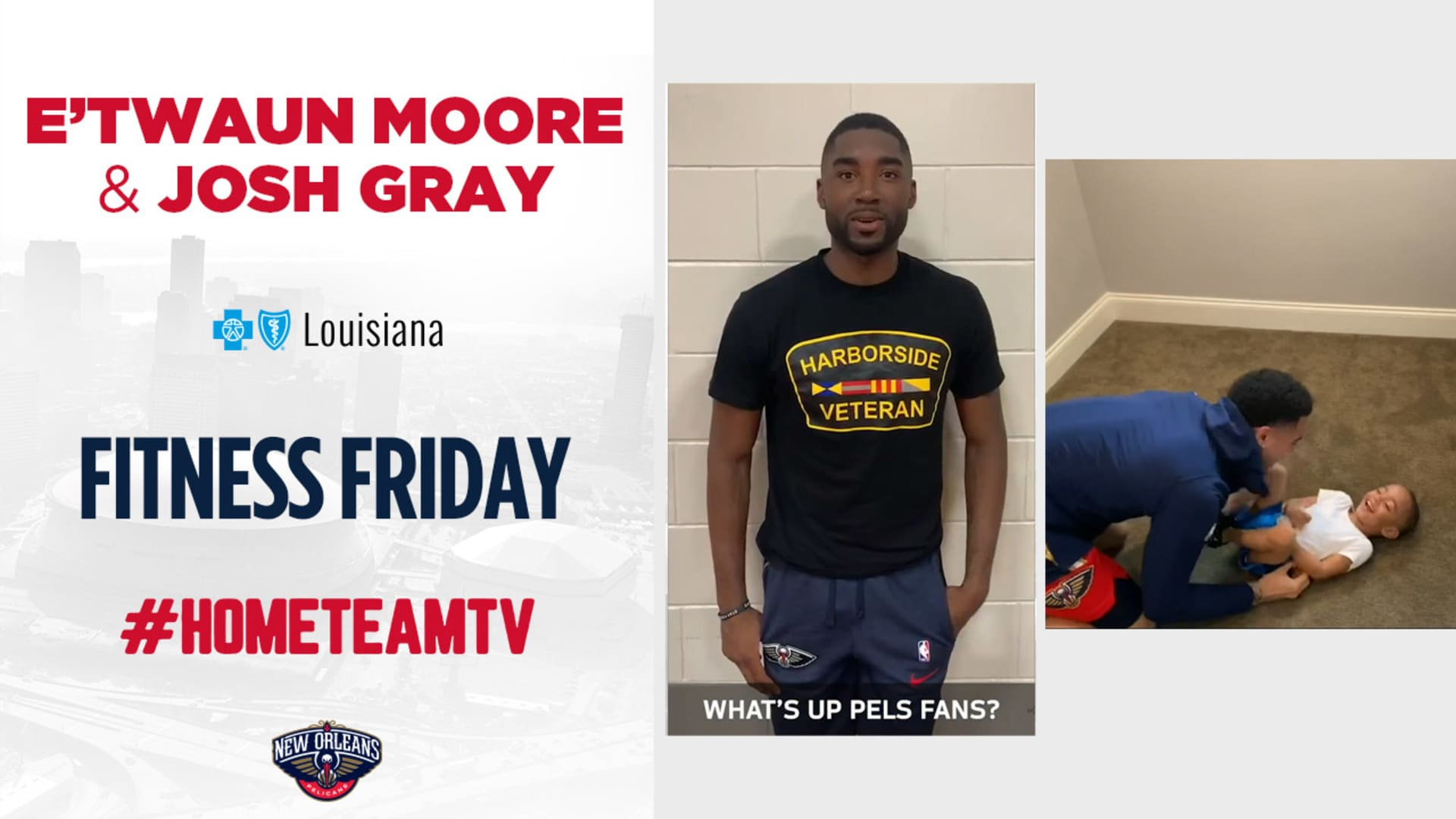 HomeTeamTV: Fitness Friday with E'Twaun Moore & Josh Gray, 4/24/20
