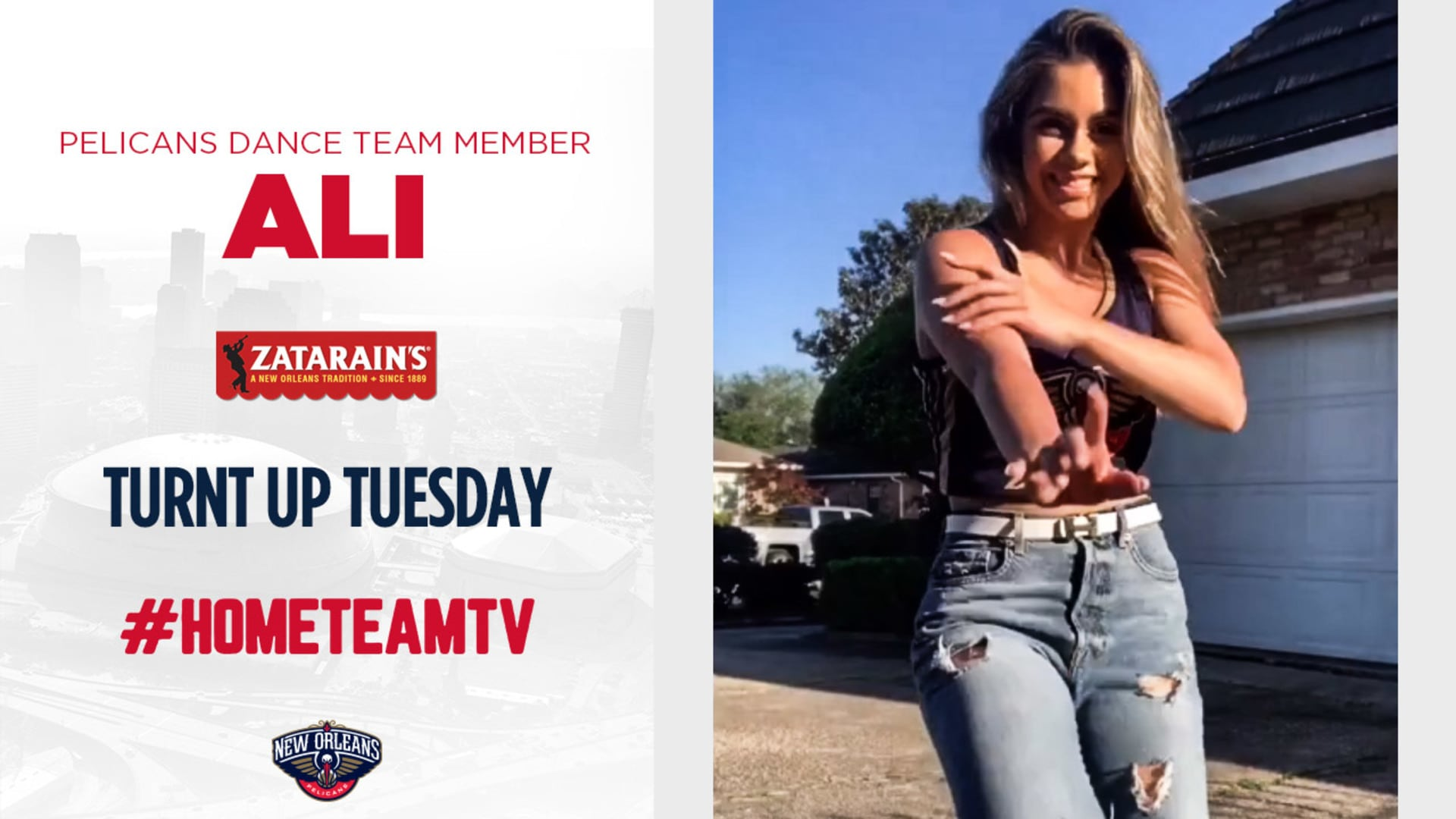 HomeTeamTV: Turnt Up Tuesday with Ali from the Pelicans Dance Team, 5/5/20
