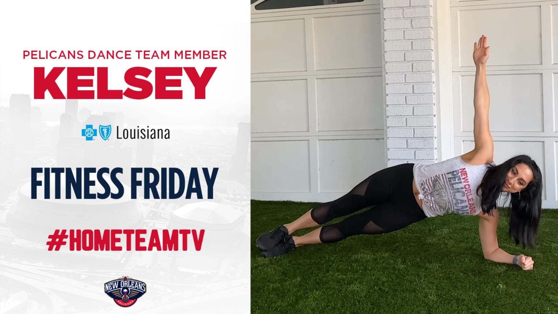 HomeTeamTV: Fitness Friday with Kelsey from the Pelicans Dance Team, 5/8/20