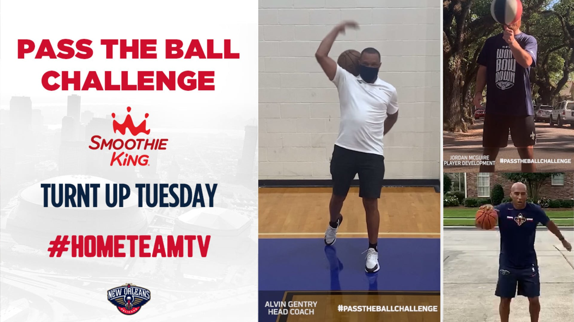 HomeTeamTV: Pass the Ball Challenge on Turnt Up Tuesday, 5/12/20