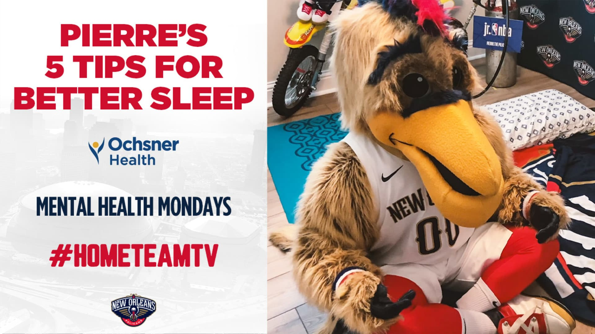 HomeTeamTV: Pierre's sleep tips on Mental Health Monday, 5/18/20
