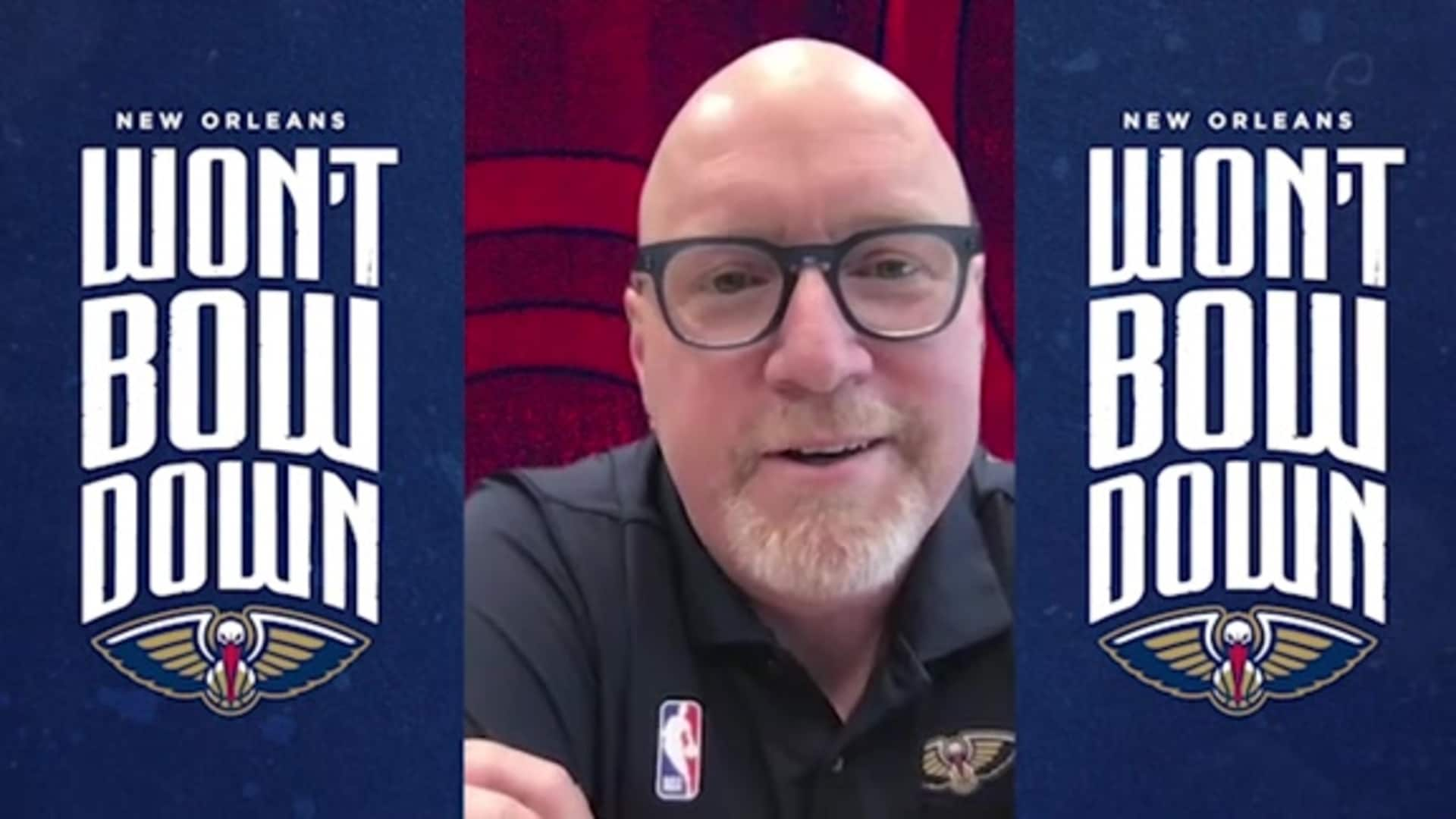 Pelicans David Griffin discusses re-opening the team's practice facility amid COVID-19 restrictions