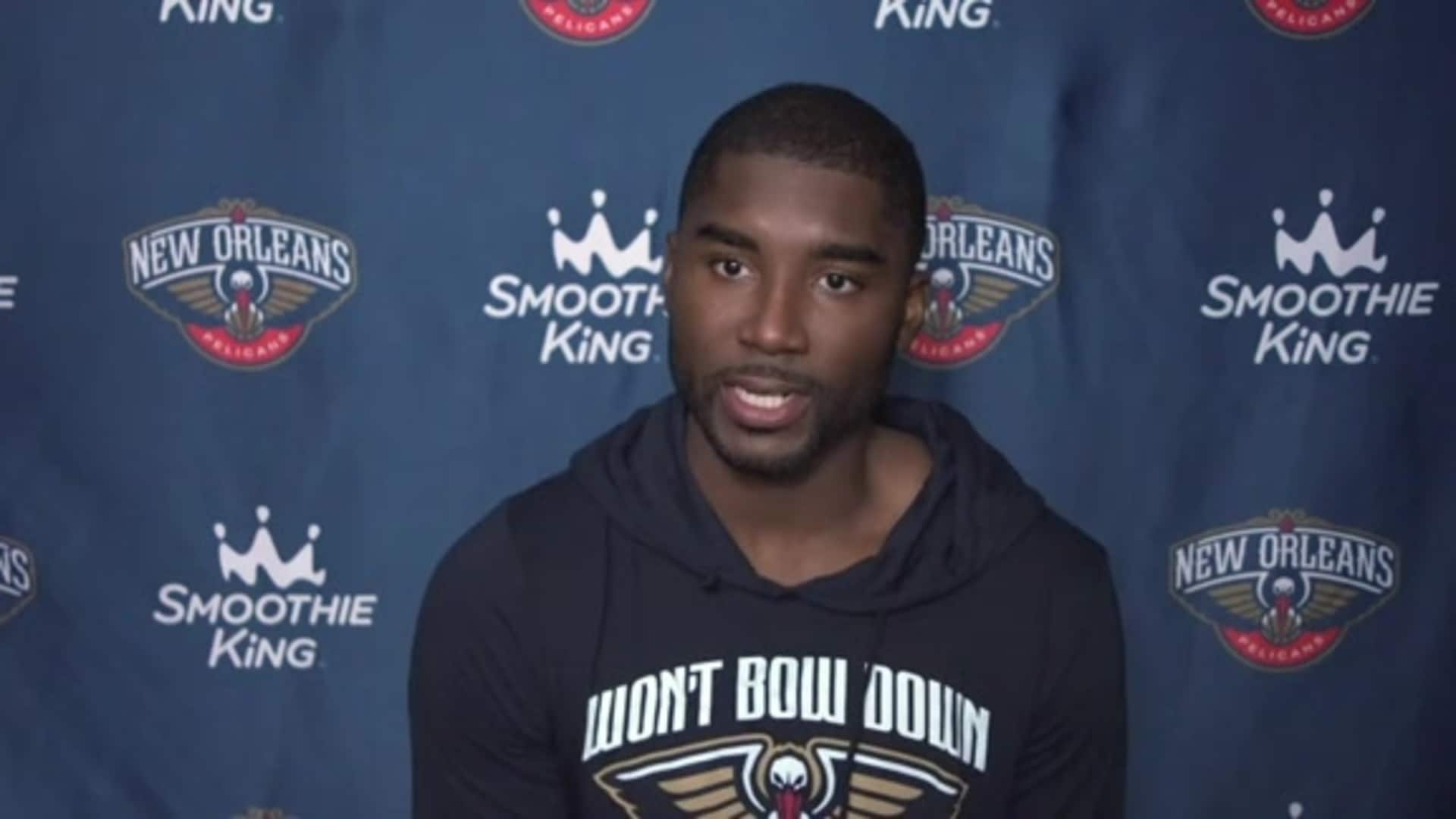 Pelicans Practice: E'Twaun Moore talks about the importance of every game played in Orlando
