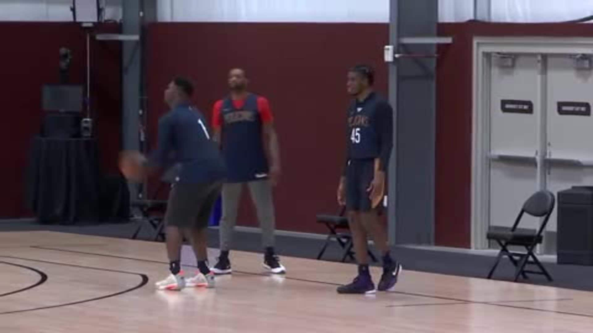 Pelicans practice highlights July 10, 2020