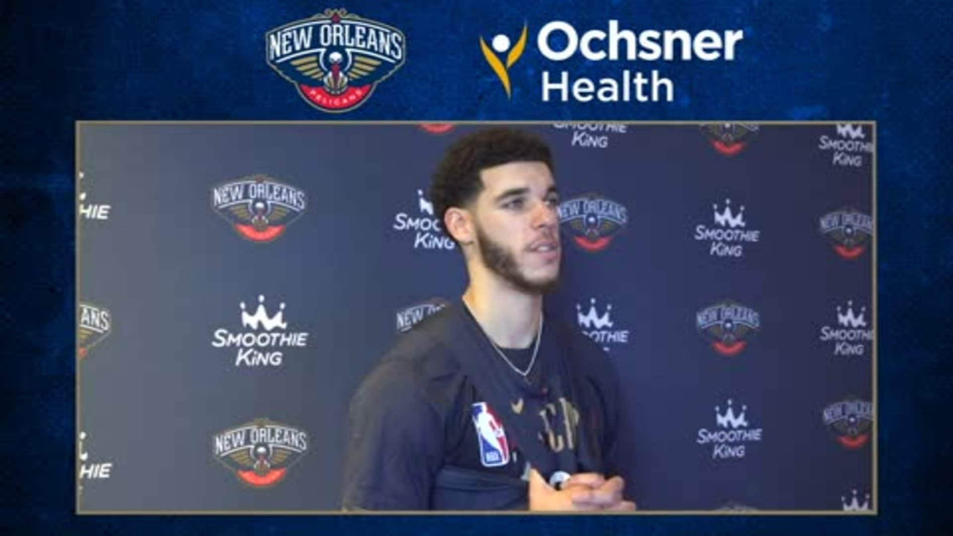 Pelicans Practice: Lonzo Ball interview after Saturday's practice in Orlando