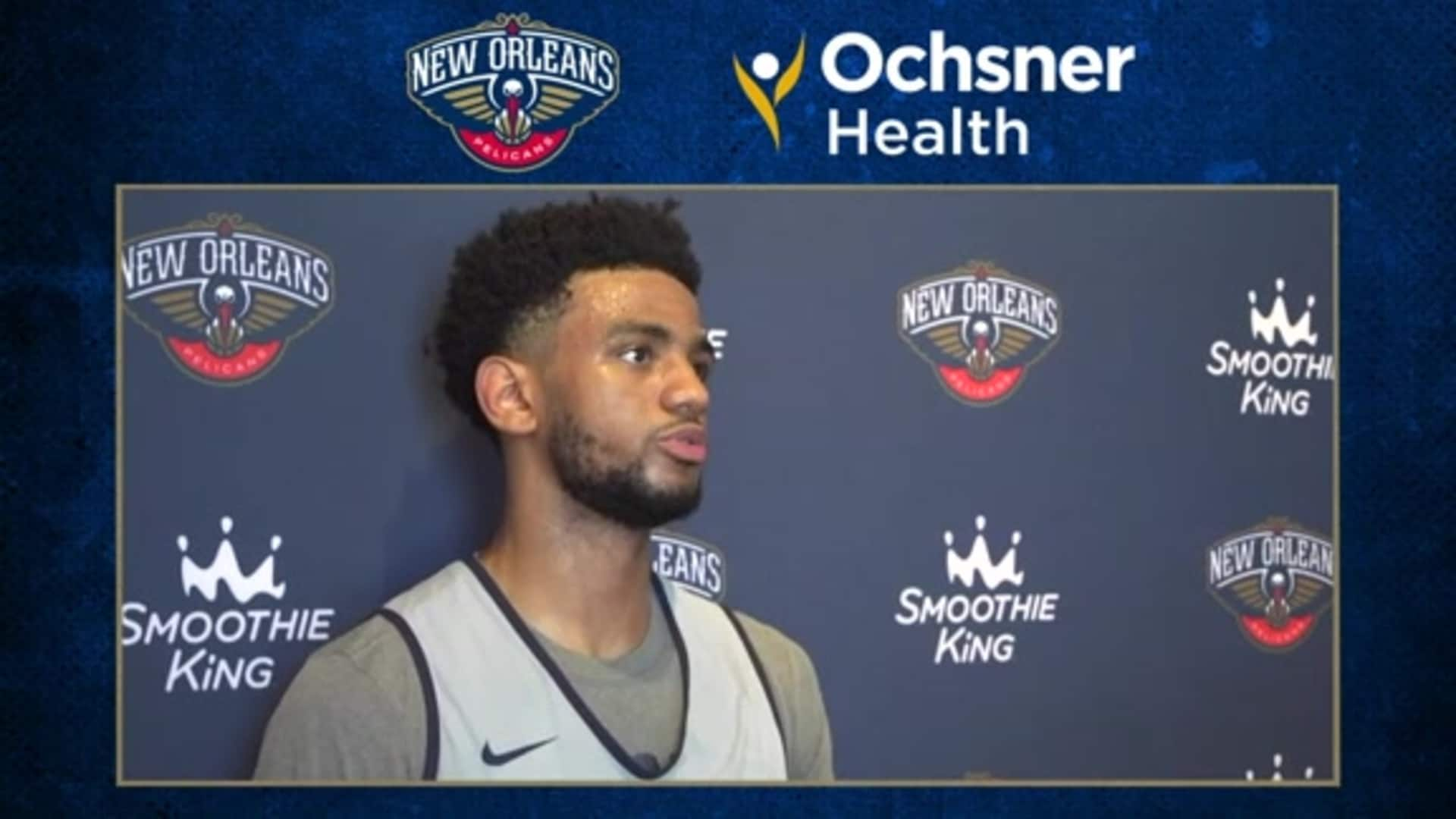 Pelicans Practice: Nickeil Alexander-Walker talks about his journey thus far in the NBA