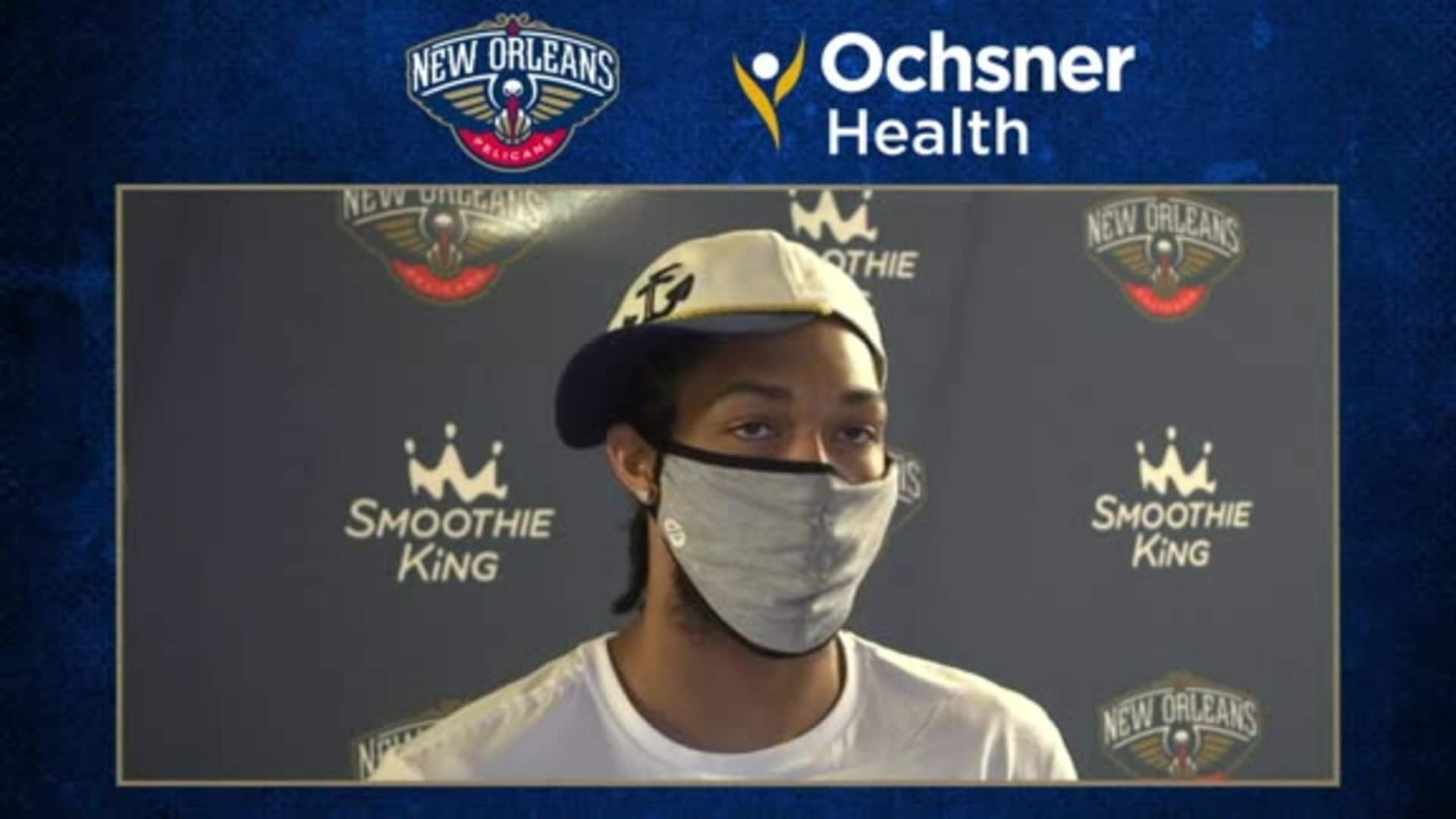 Pelicans Postgame Interview: Brandon Ingram talks about New Orleans' offense vs. Nets