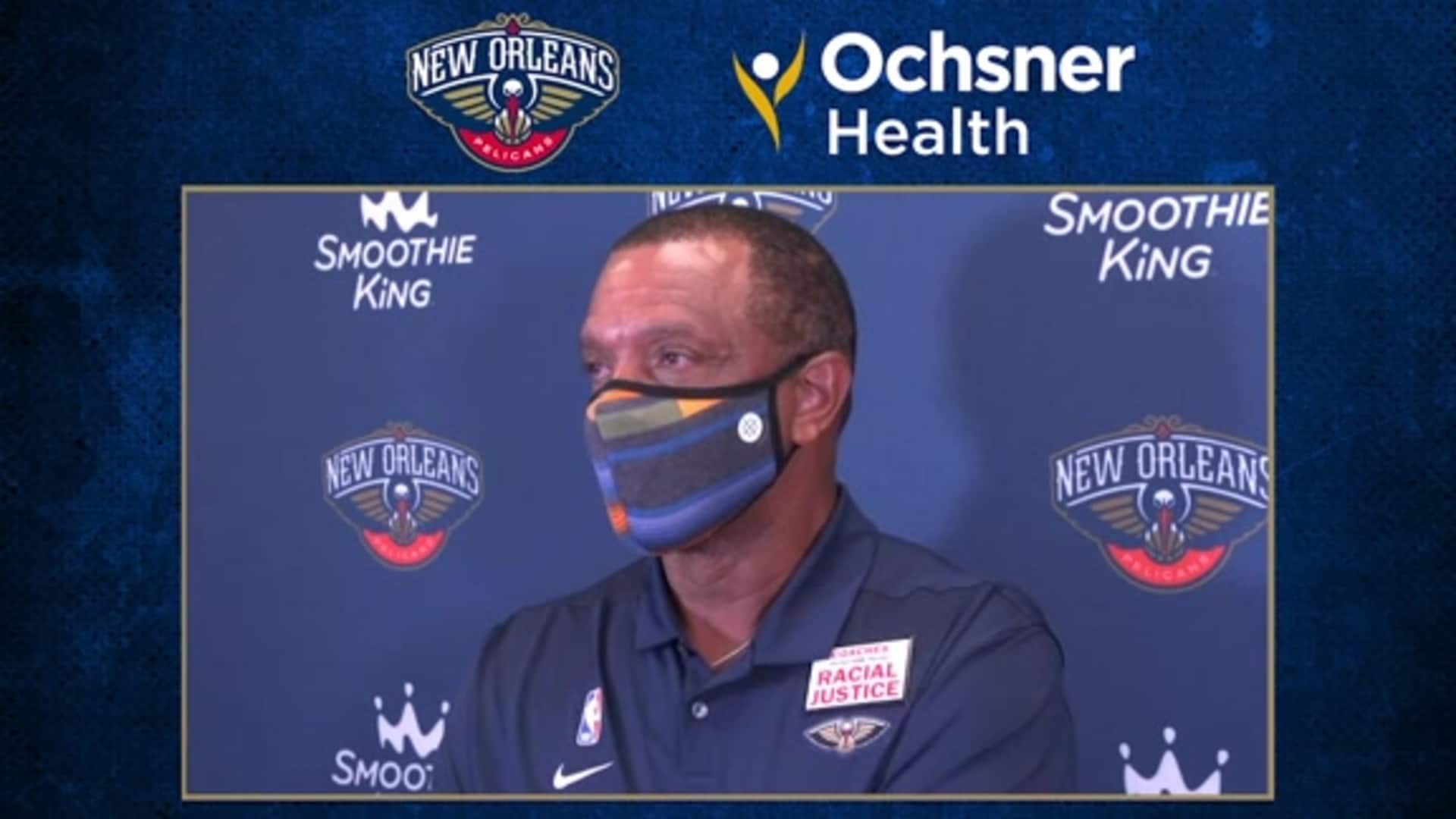 Pelicans Postgame Interview: Alvin Gentry talks first half execution, correcting mistakes and moving forward