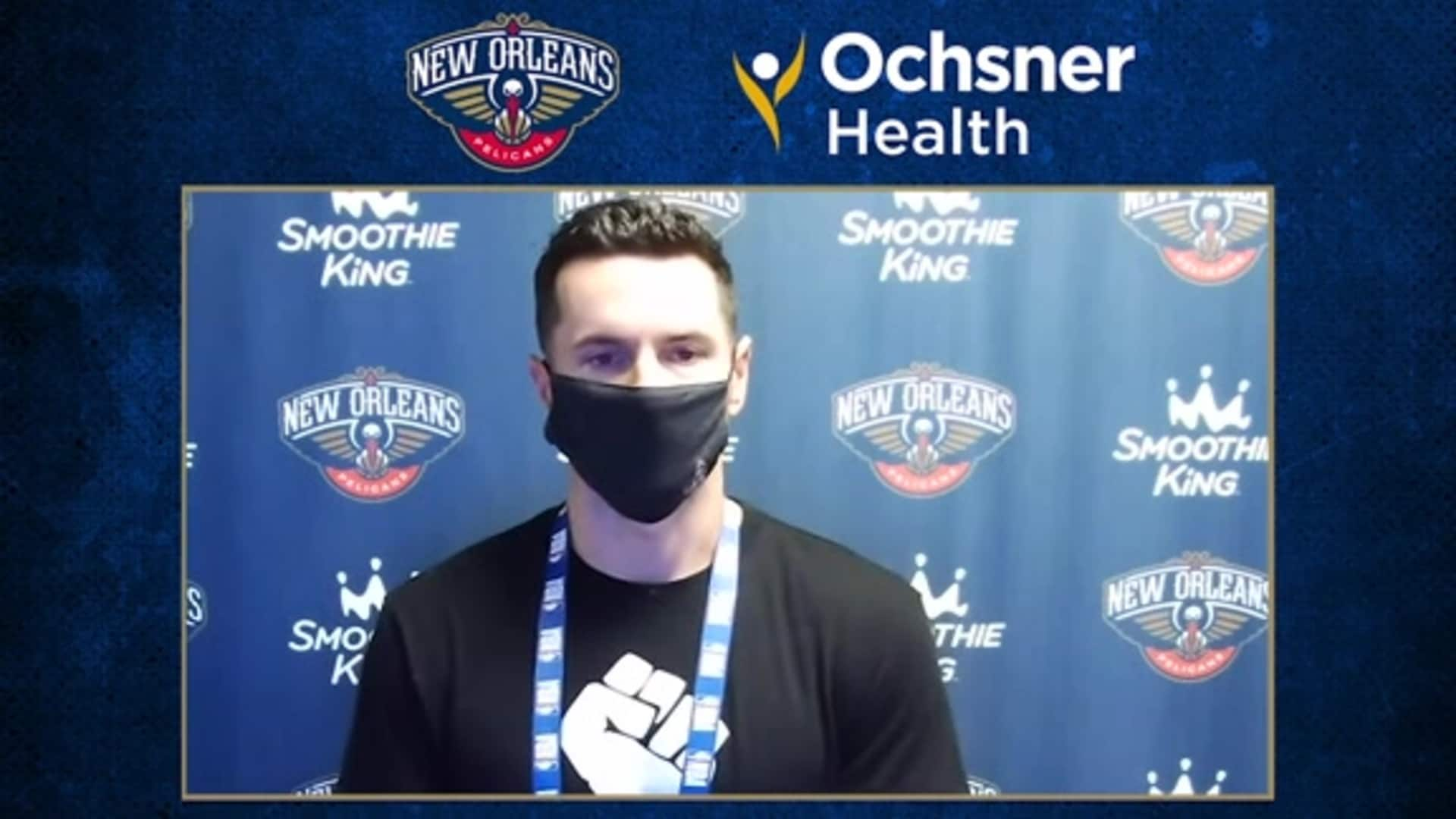 Pelicans Postgame Interview: JJ Redick talks executing down the stretch