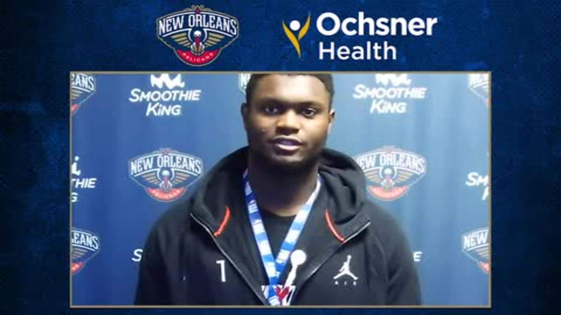 Pelicans Postgame Interview: Zion Williamson talks working back into the flow of the game