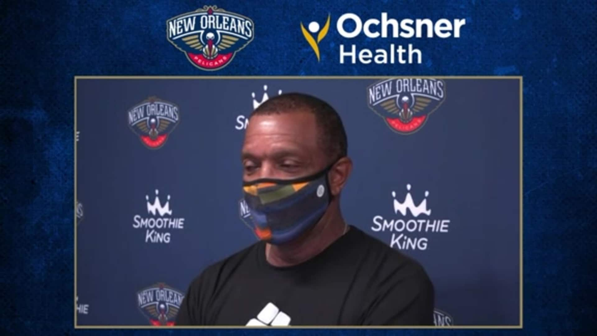Alvin Gentry looks to bounce back from tough loss vs Jazz | Ochsner Pelicans Practice